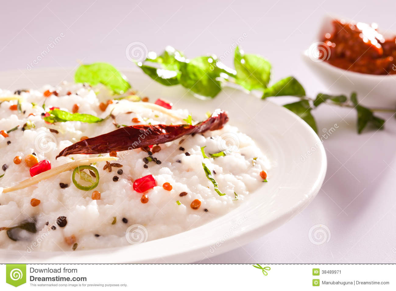 Curd Rice - A Rice mixed with yogurt and seasoning, served with pickle ...