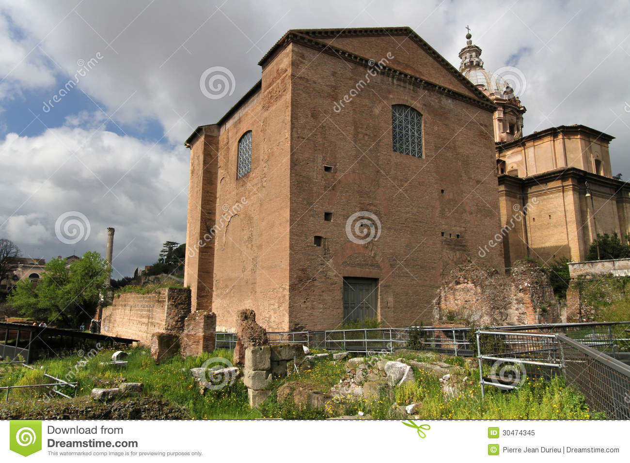 Curia Julia, The Meeting Place Of The Roman Senate Royalty Free Stock ...