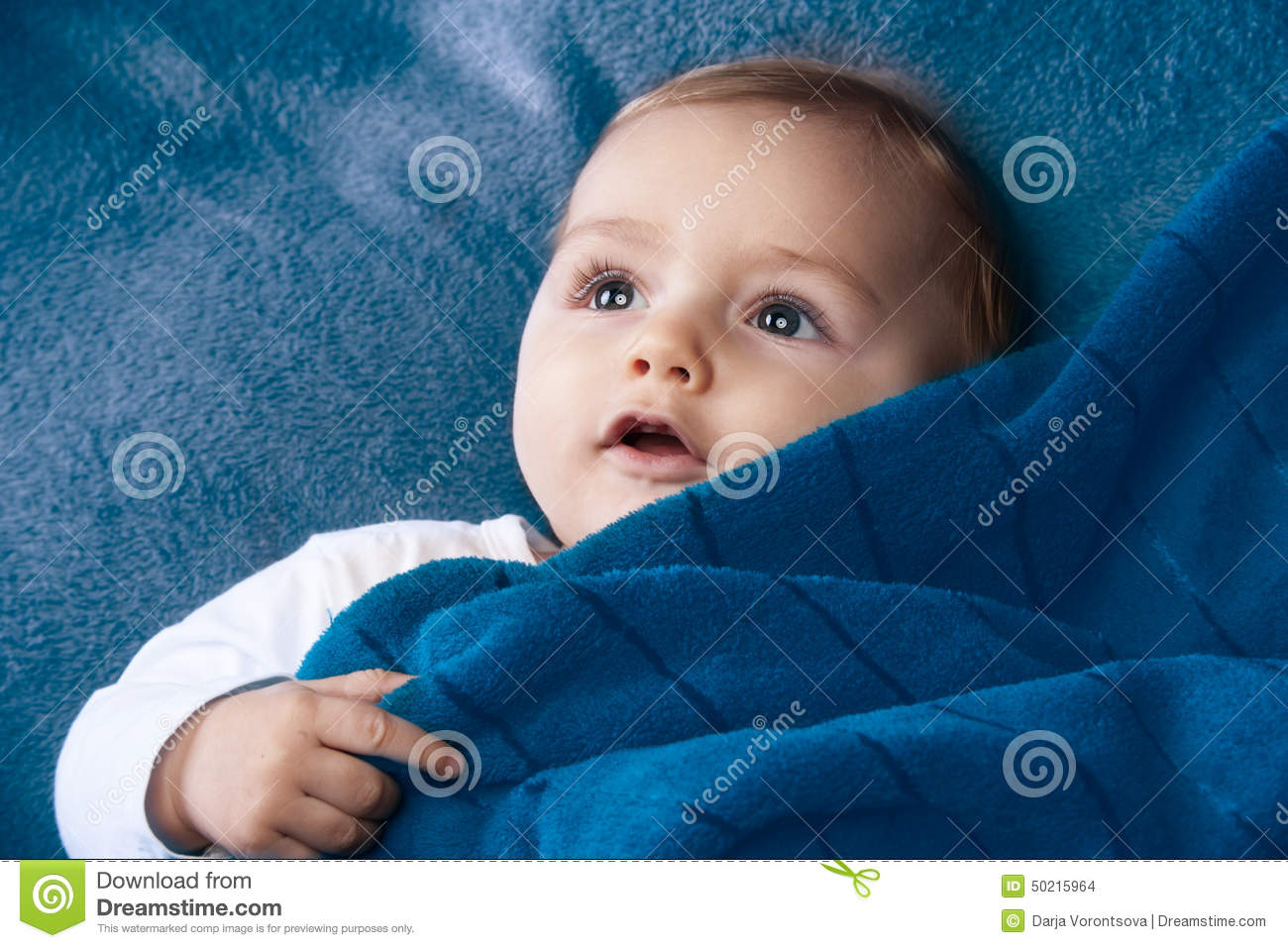 curiose cute baby smile stock photo. image of newborn - 50215964