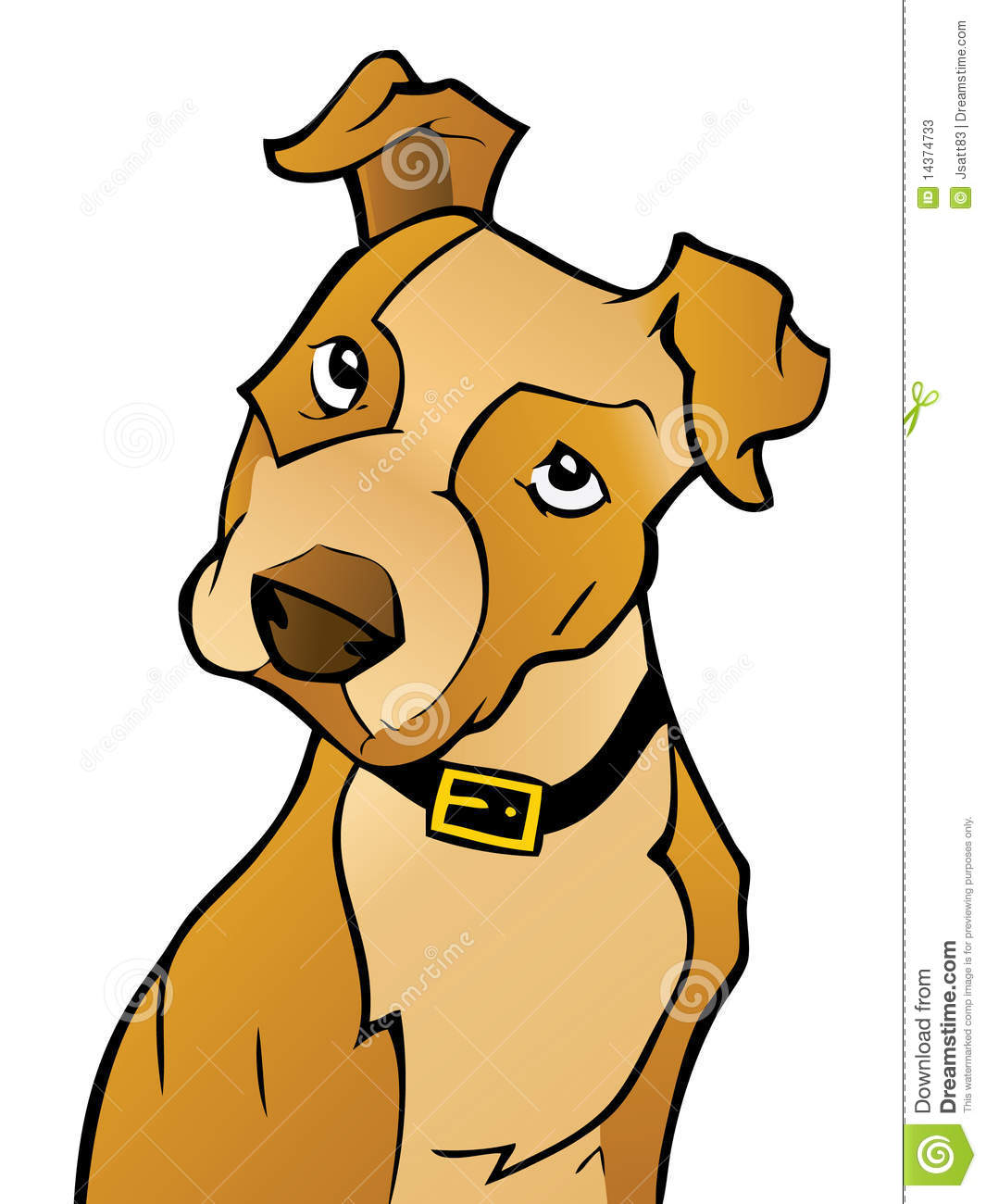 curious cartoon dog stock vector illustration of illustration