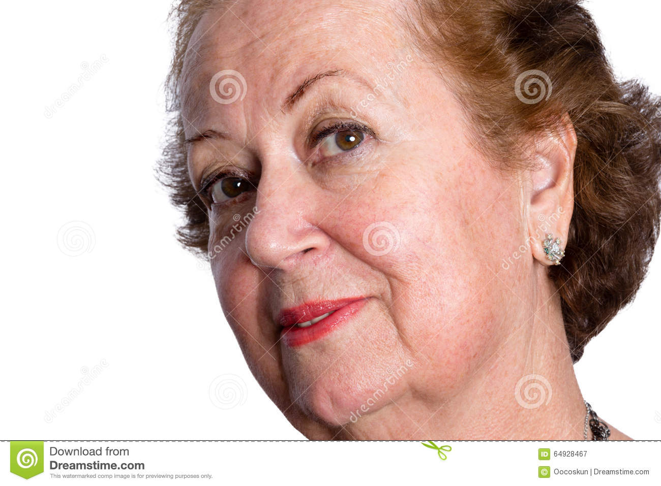 Curious Questioning Senior Female Stock Image Image Of Isolated
