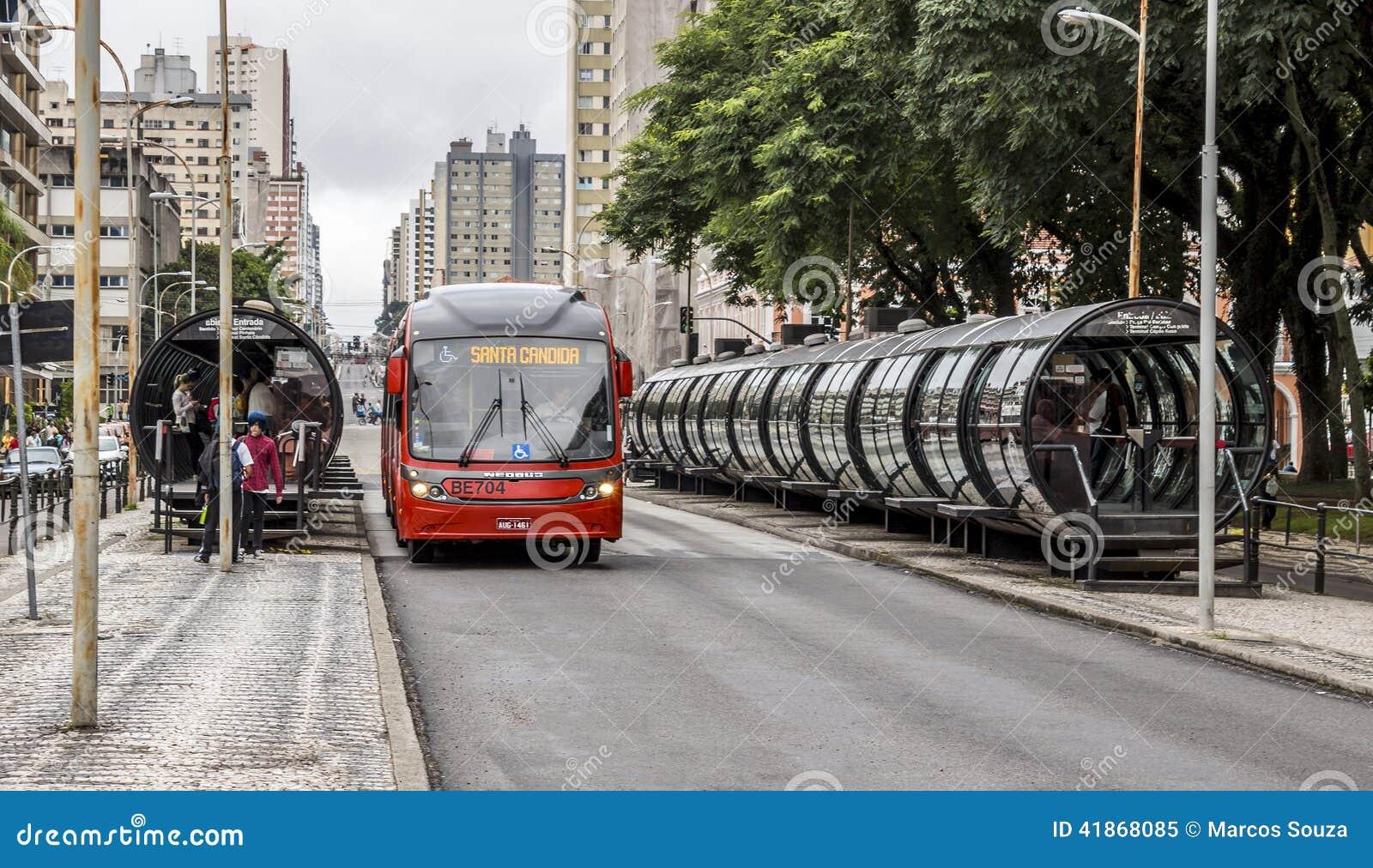 Curitiba s public transportation editorial image