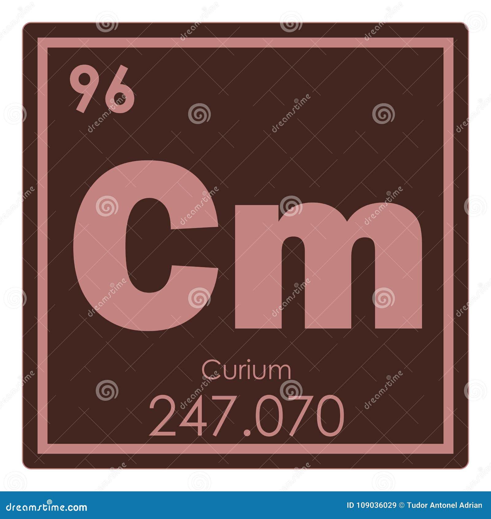 Curium Chemical Element Stock Illustration Illustration Of Curium