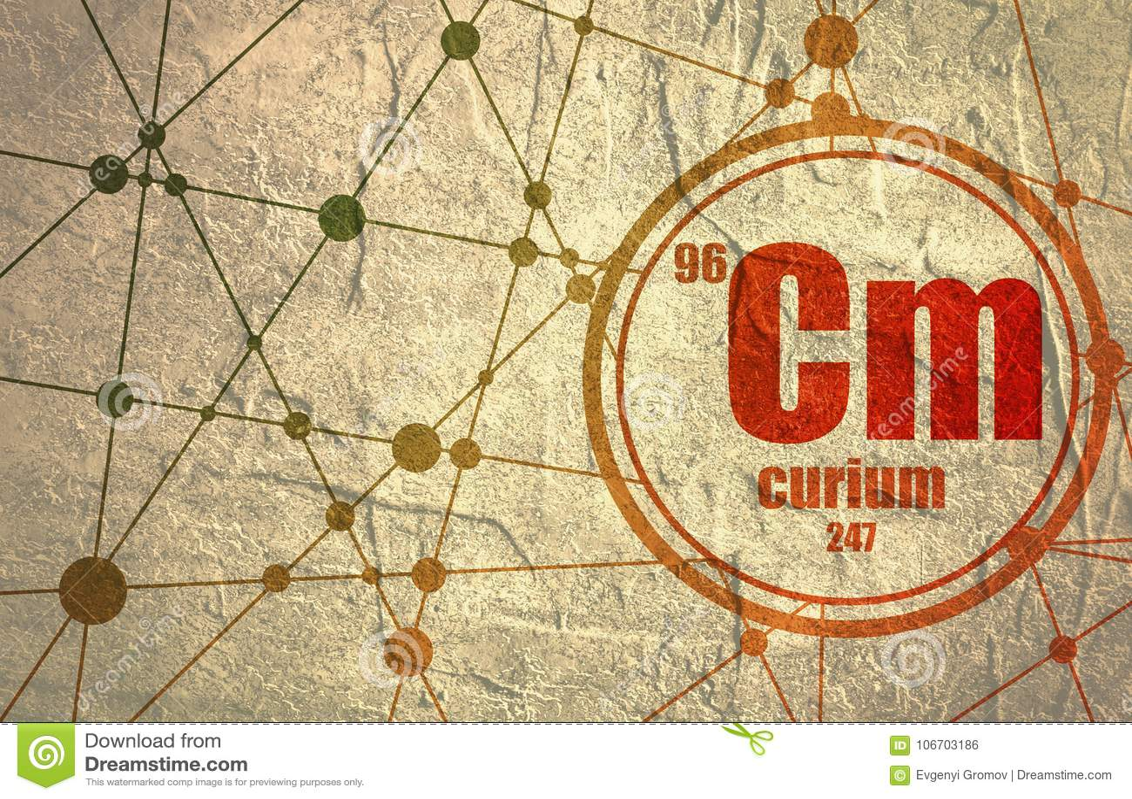 Curium Chemical Element Stock Illustration Illustration Of