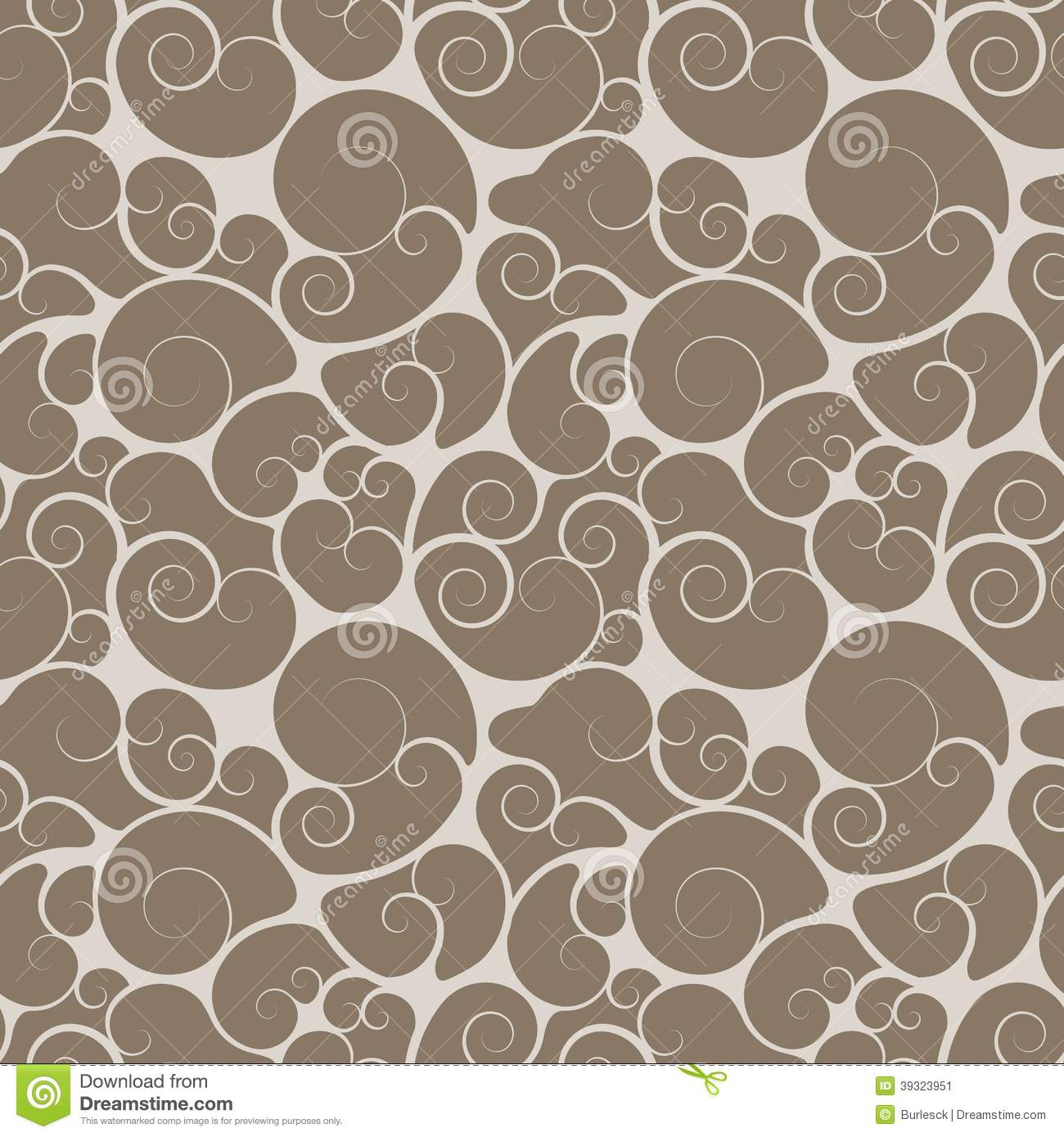 curl scroll or swirl pattern stock vector illustration of