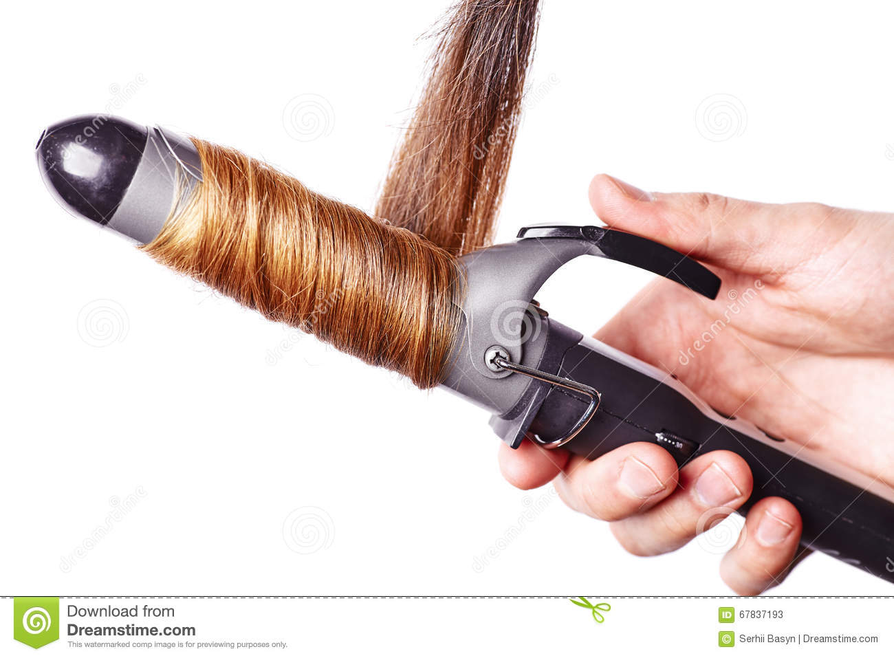 Curling Hair Isolated On White Stock Photo Cartoondealer