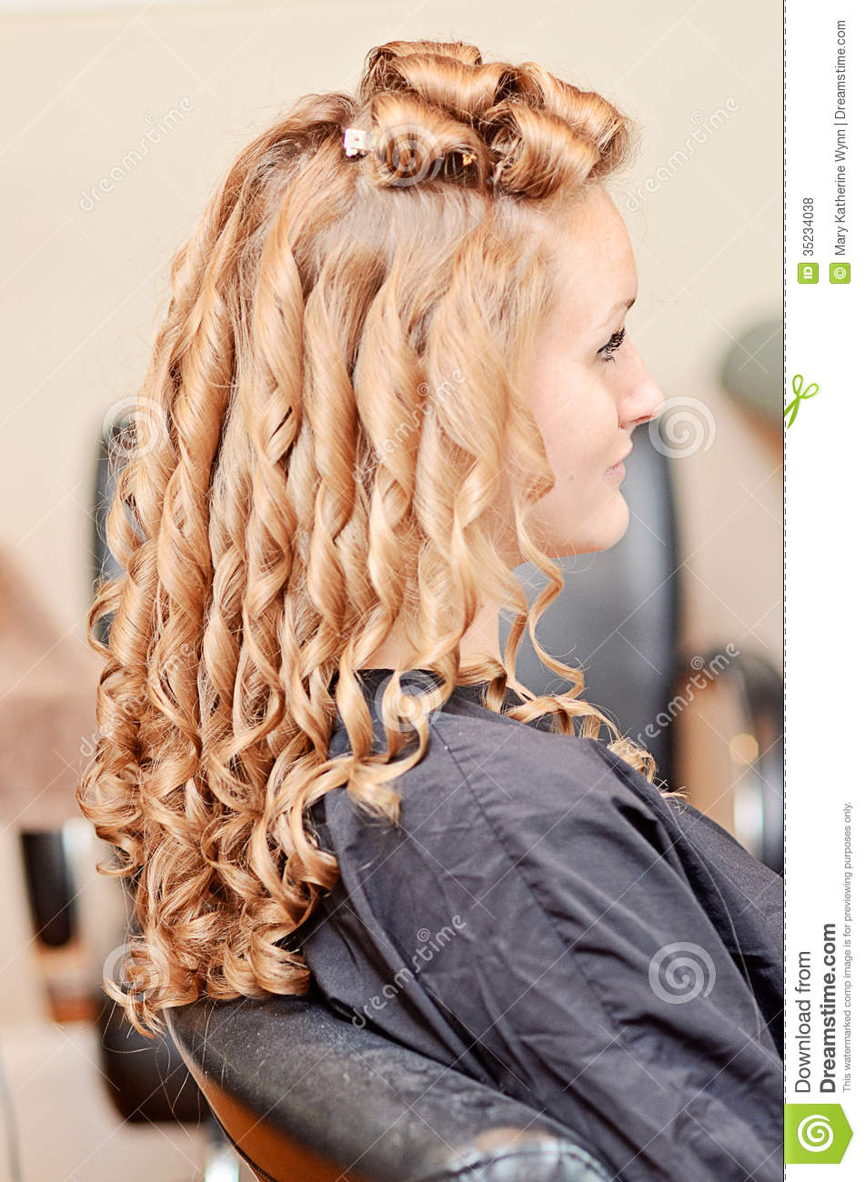 Curly Hair Styling Stock Photo Image Of Smooth Pins