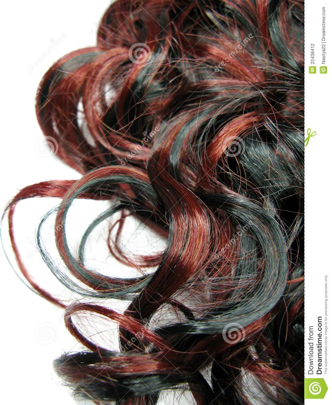 Curly Highlight Hair Texture Background Stock Photo Image Of