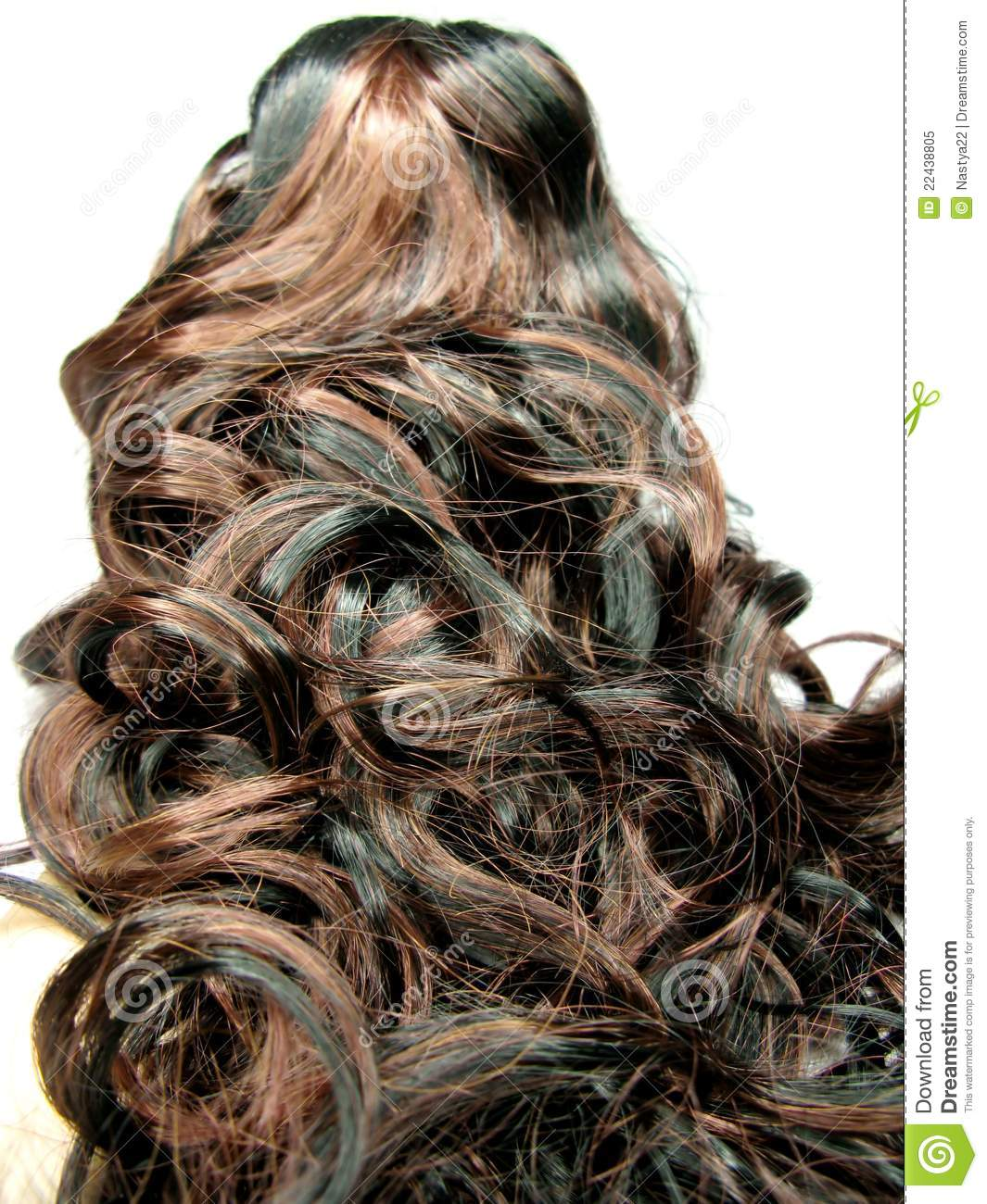 Curly Highlight Hair Texture Background Stock Image Image Of