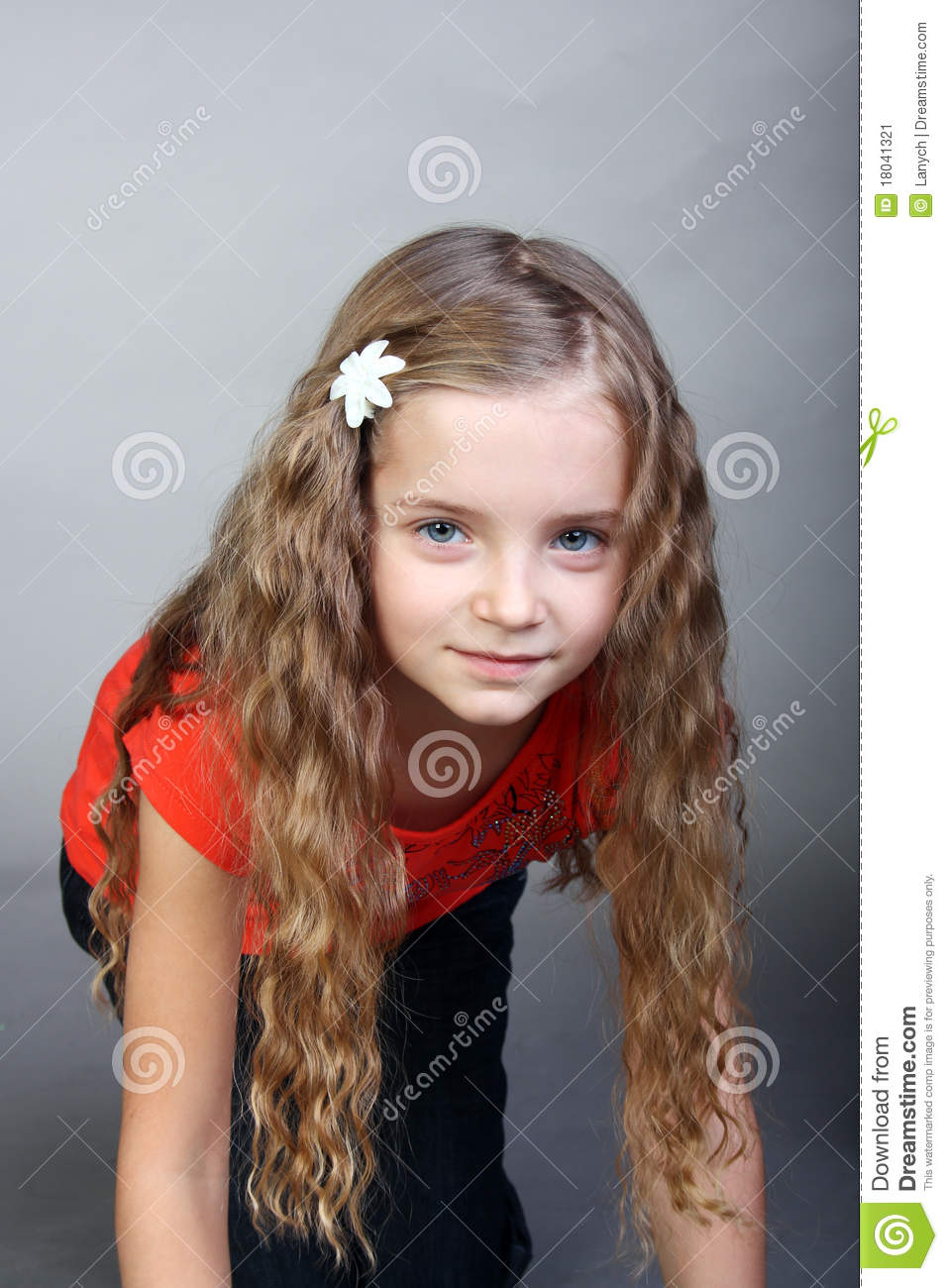 Curly Little Girl Stock Image Image 18041321