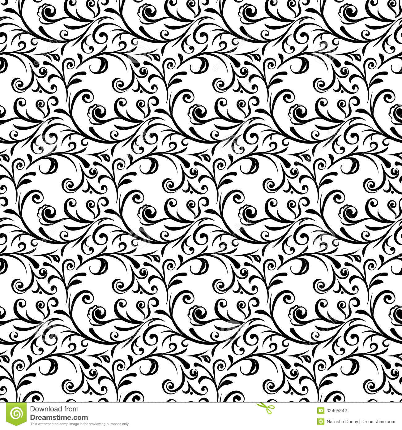 curly seamless pattern stock vector illustration of