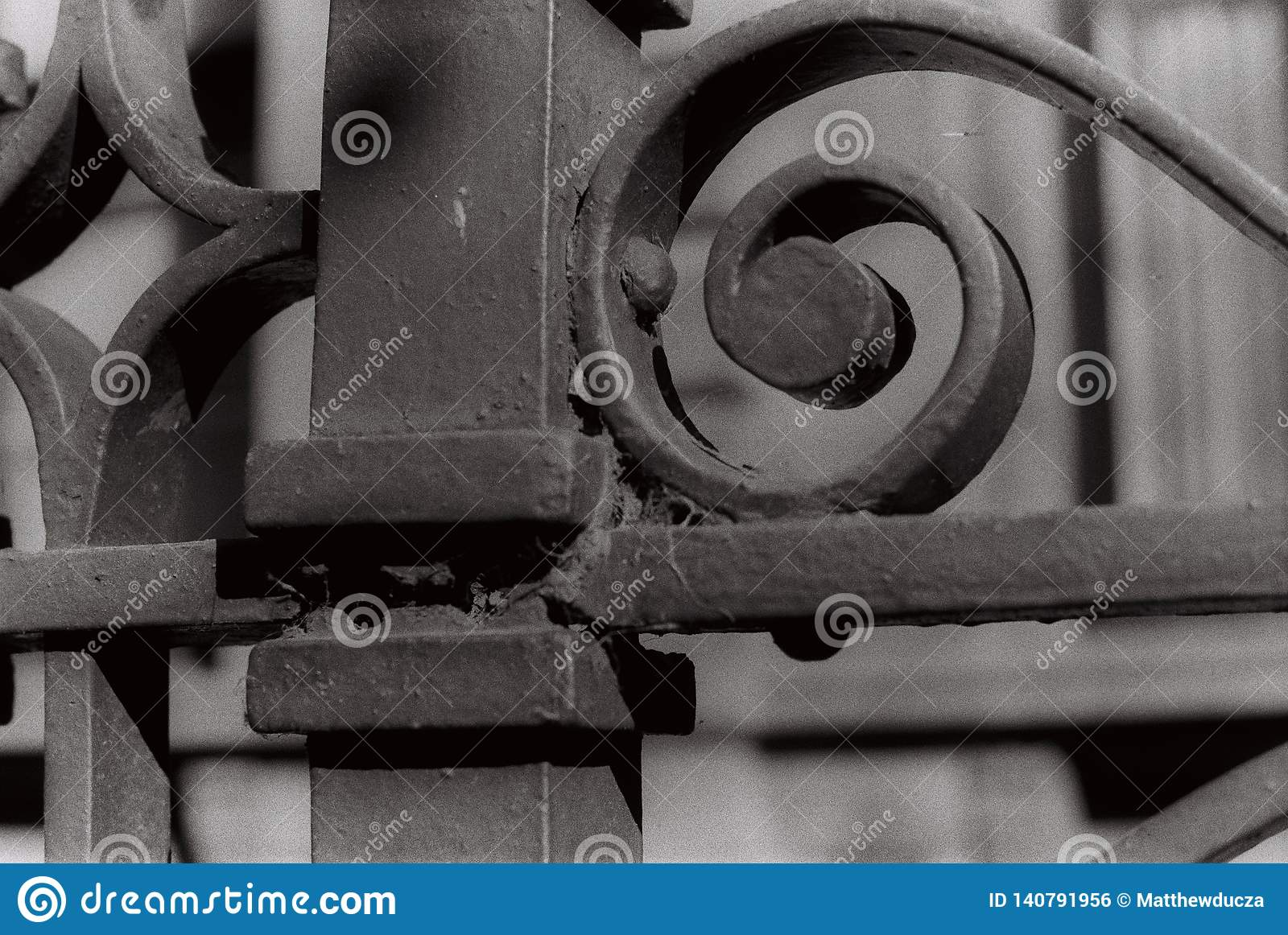 Curly Steel Victorian Fence