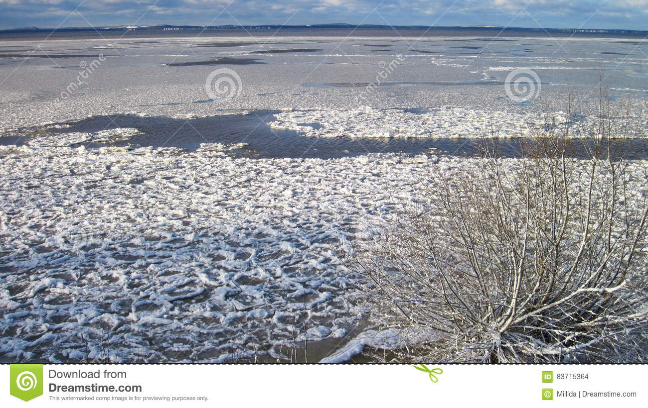 Curonian Spit In Winter, Lithuania Stock Photo
