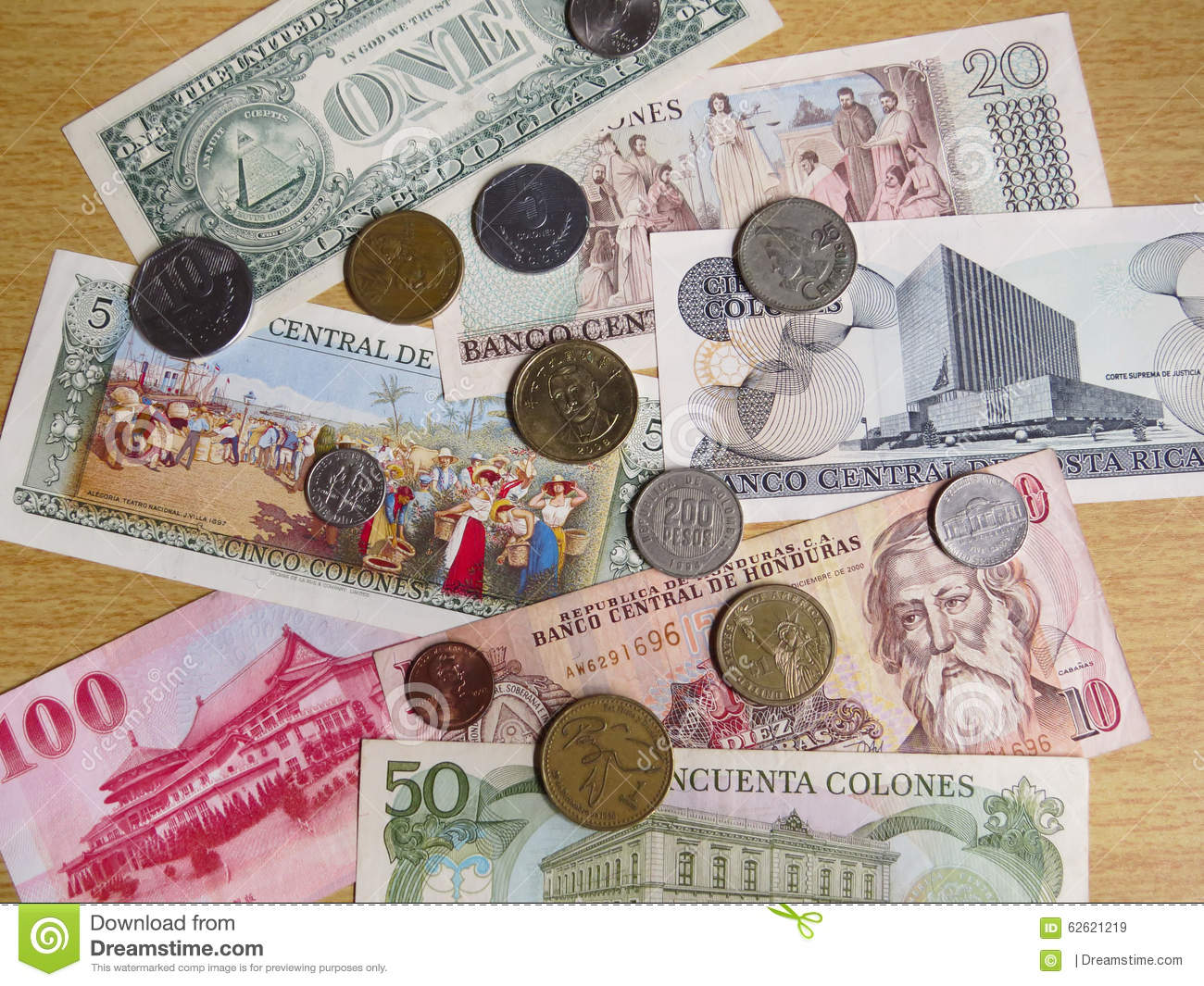 Currencies From Around The World Stock Image - Image of