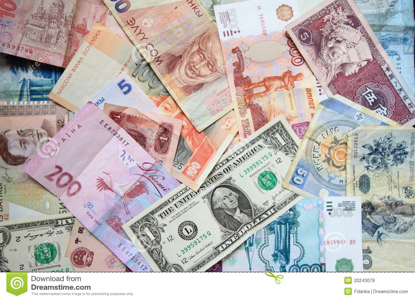 Popular currencies