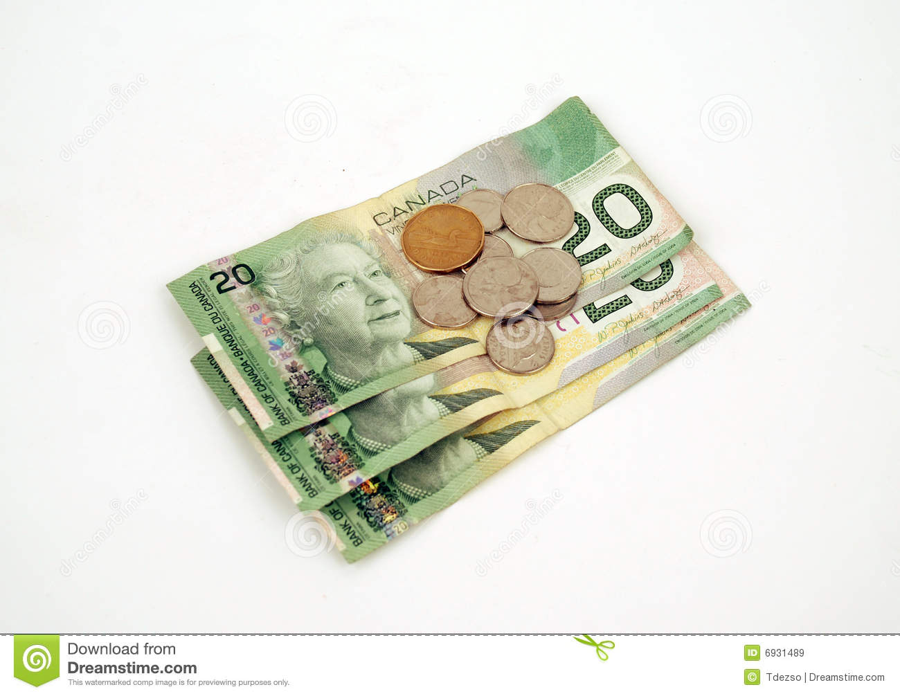 Currency - Canadian Money Editorial Stock Image - Image: 6931489