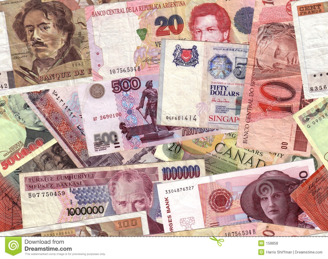 Currency collage