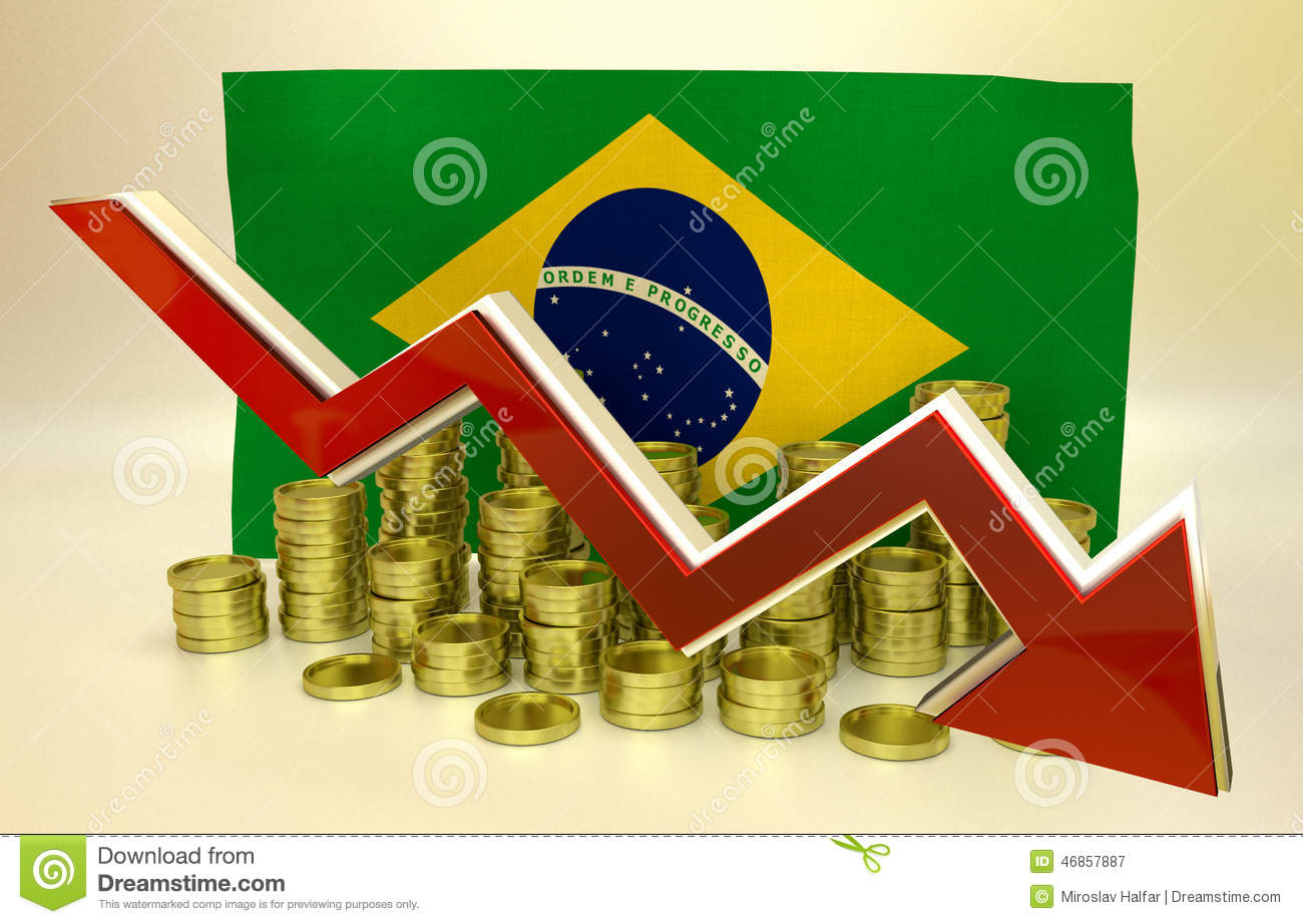 Currency Collapse Brazilian Real Stock Illustration Illustration