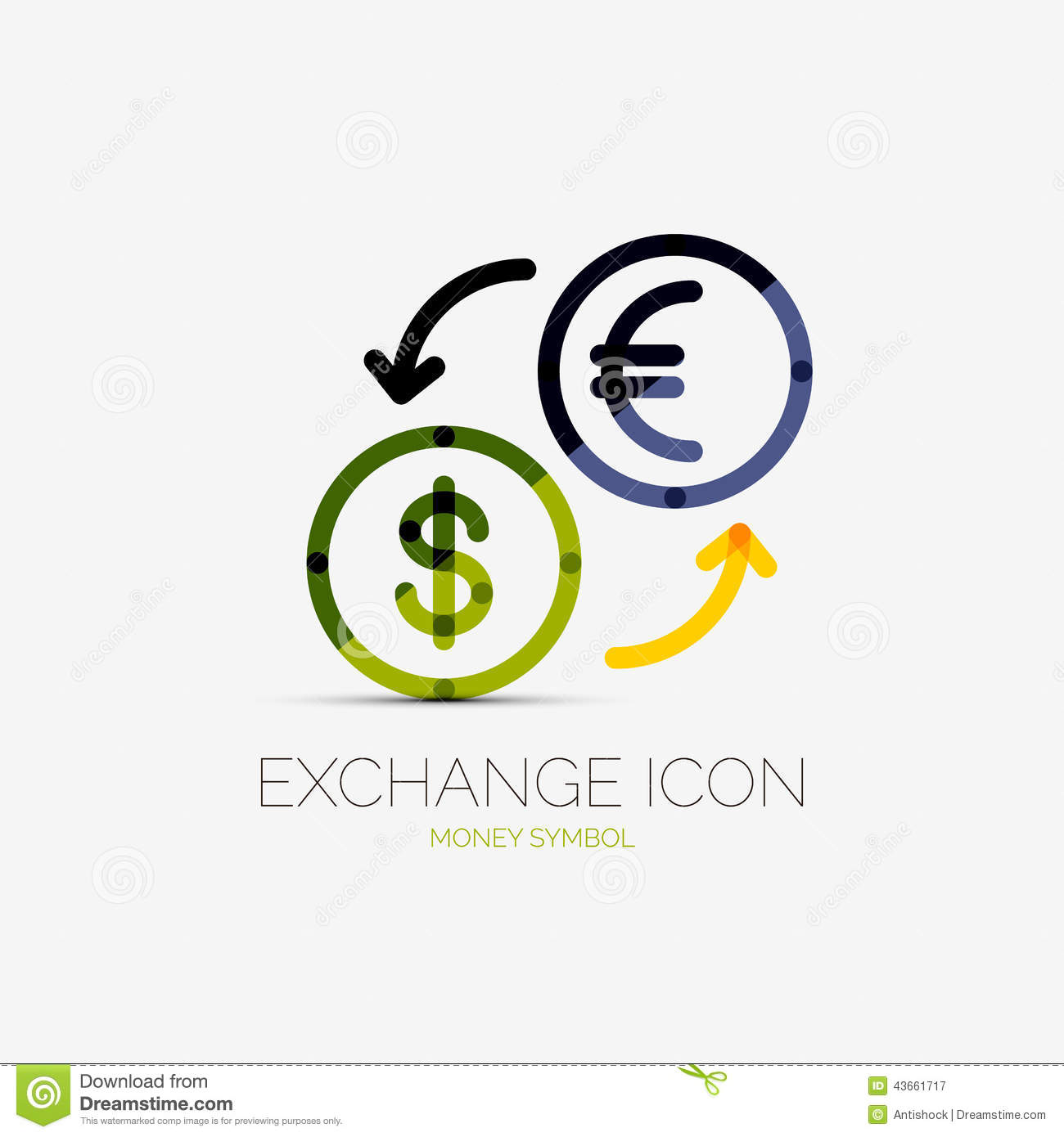 Currency exchange company logo business concept stock vector currency exchange company logo business concept biocorpaavc Images