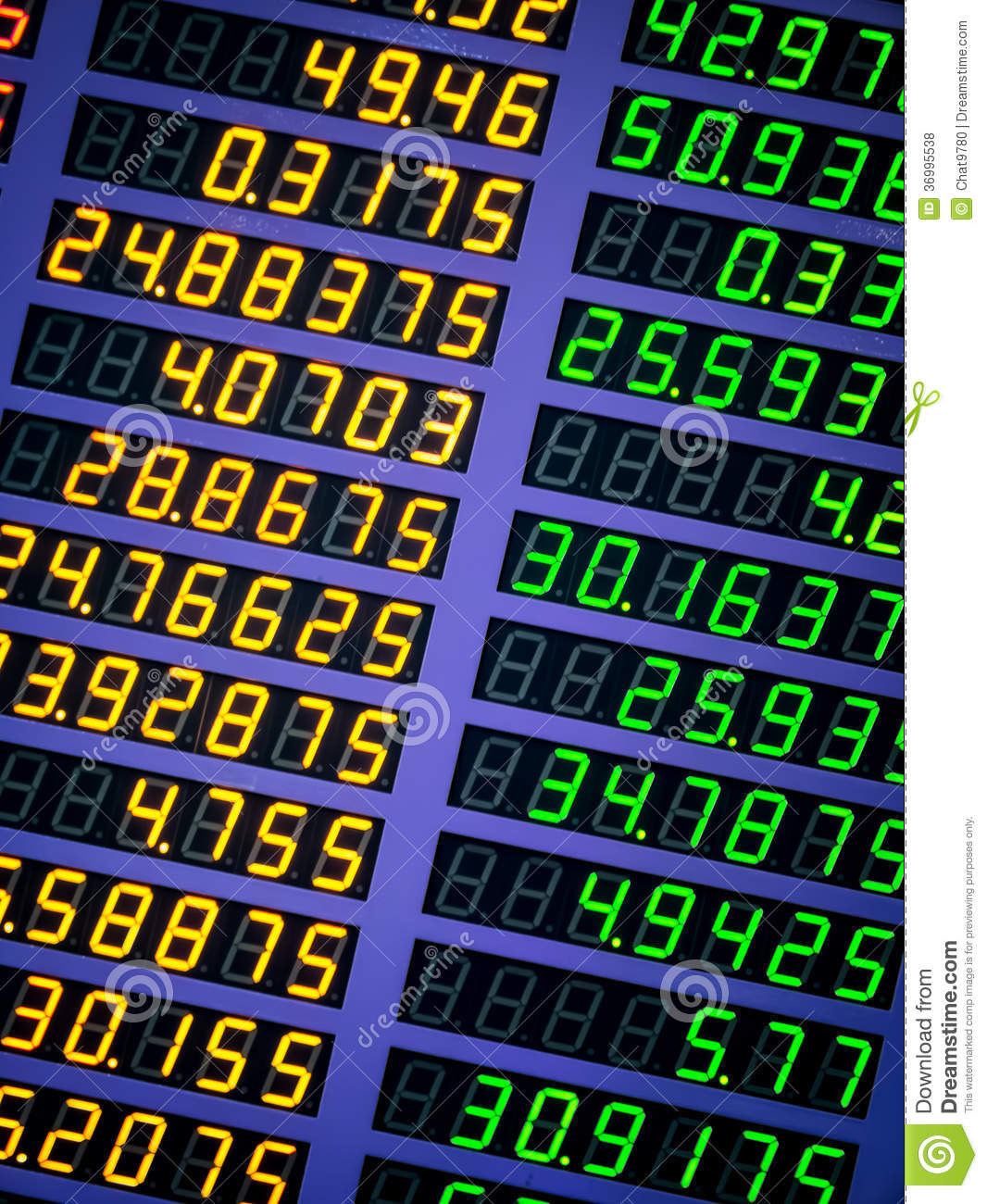 how to read exchange rate board