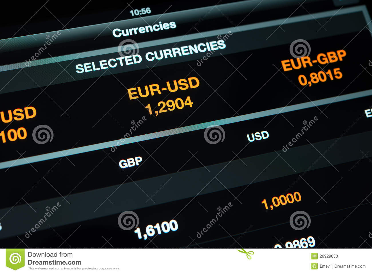Currency exchange information