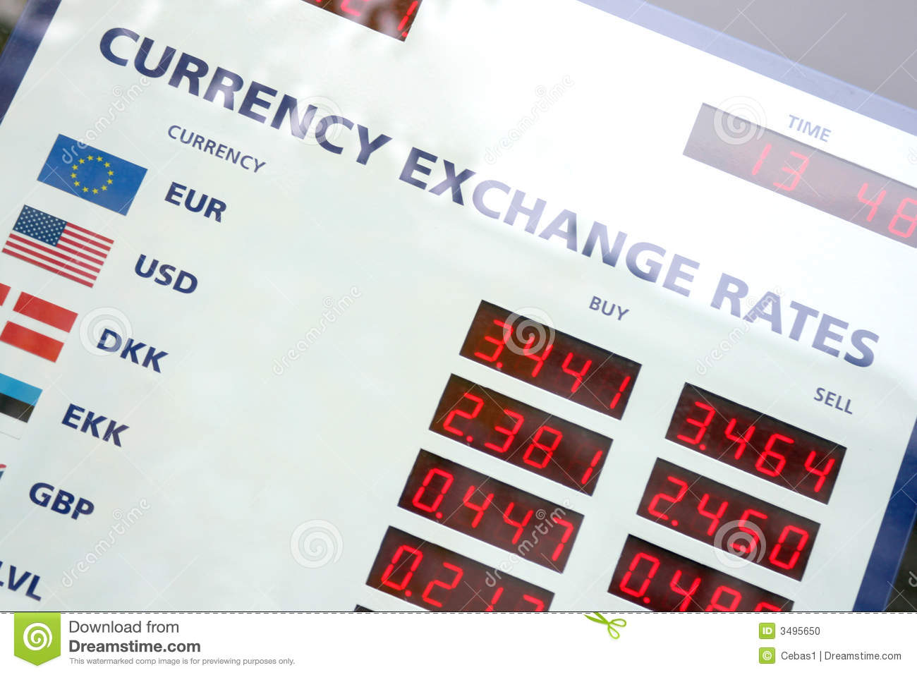 Stock exchange rate