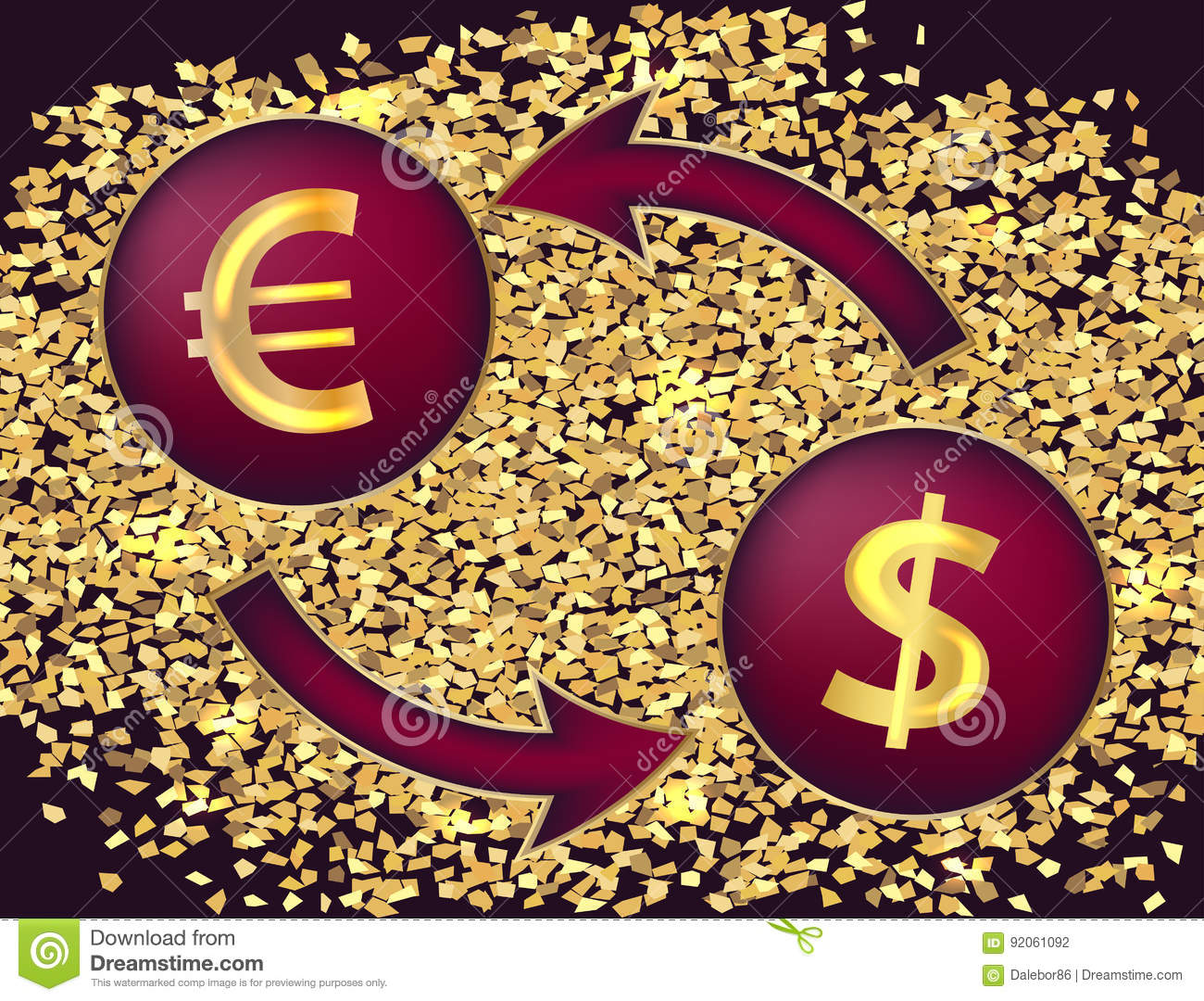Currency exchangembols of the dollar and the euro stock vector currency exchangembols of the dollar and the euro biocorpaavc Images