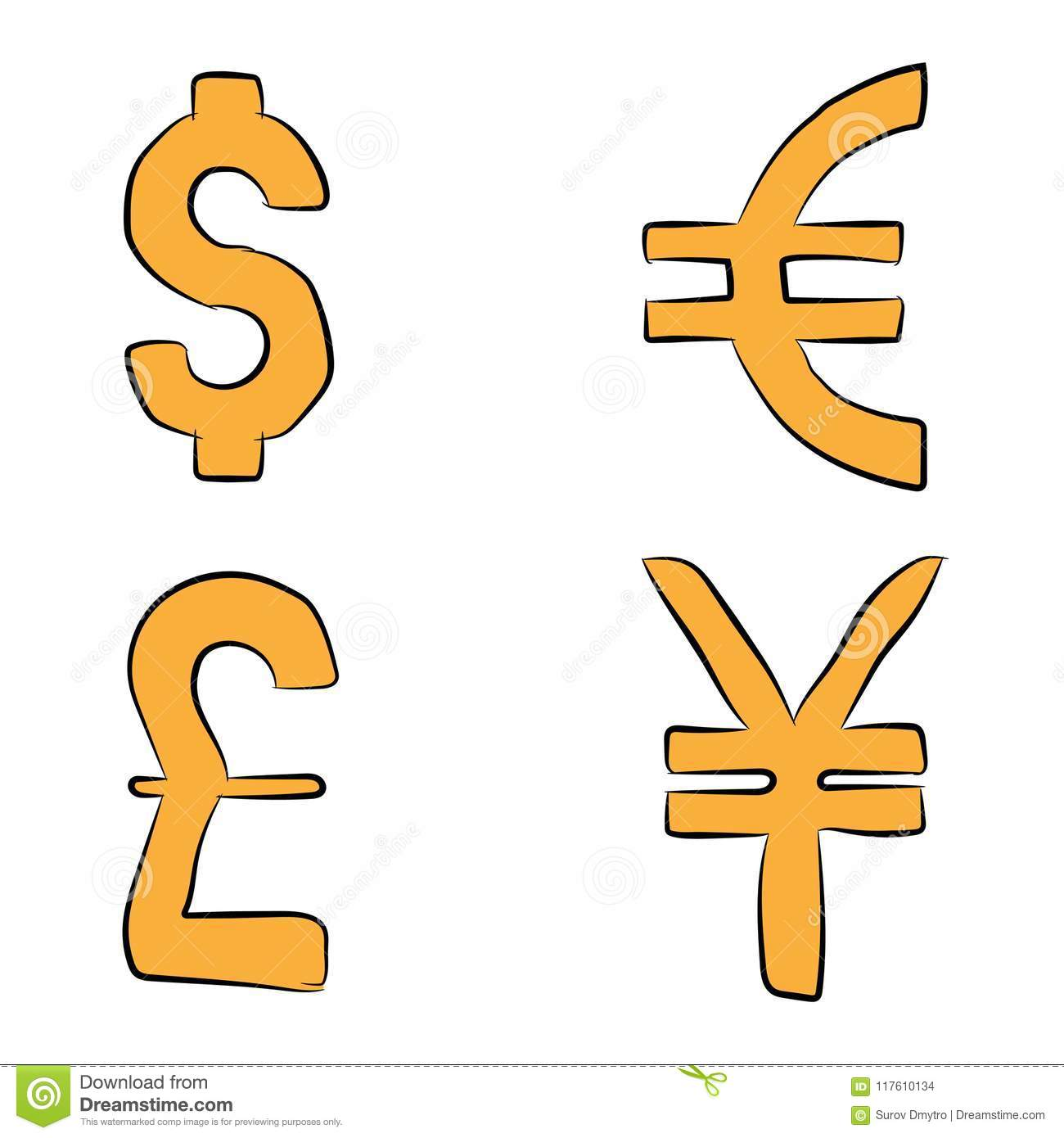 Currency Exchange World Currency Of Dollar Euro Pound And Yen