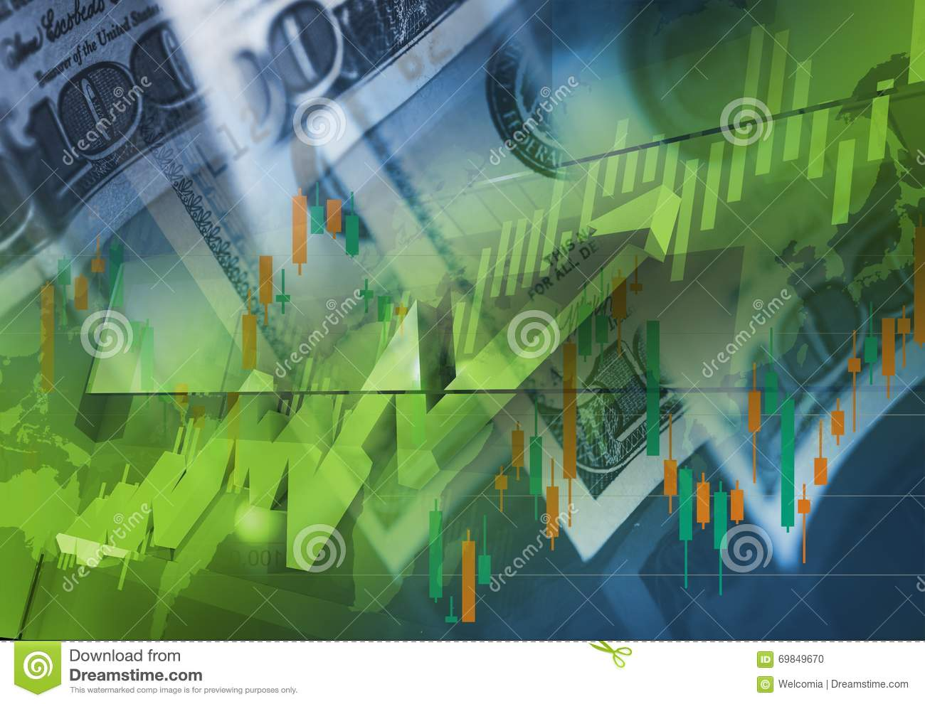 Currency Money Trading Concept Stock Illustration - Illustration of