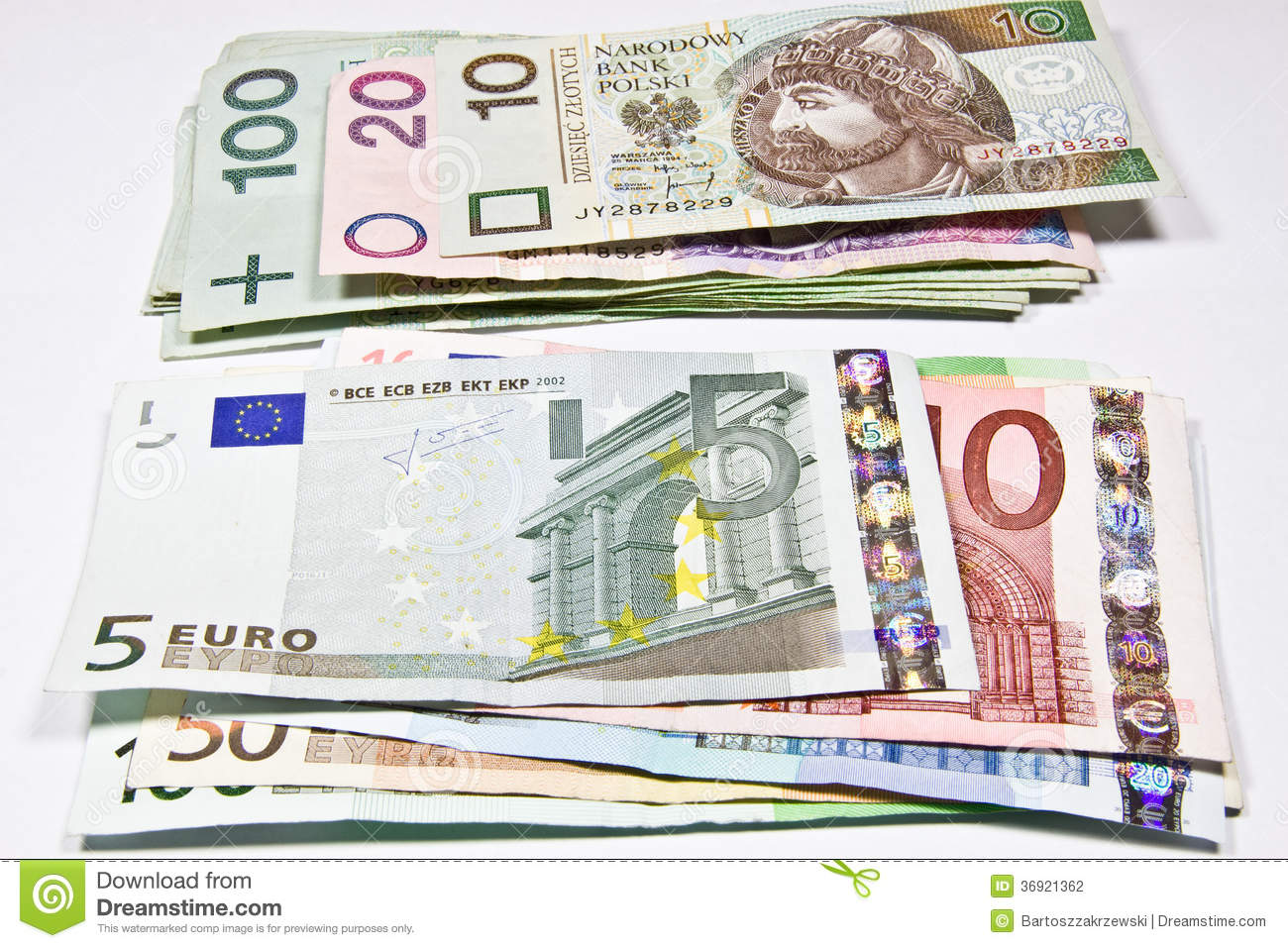 Currency Polish Zloty Euro Stock Photos - Download 294 Royalty Free Photos