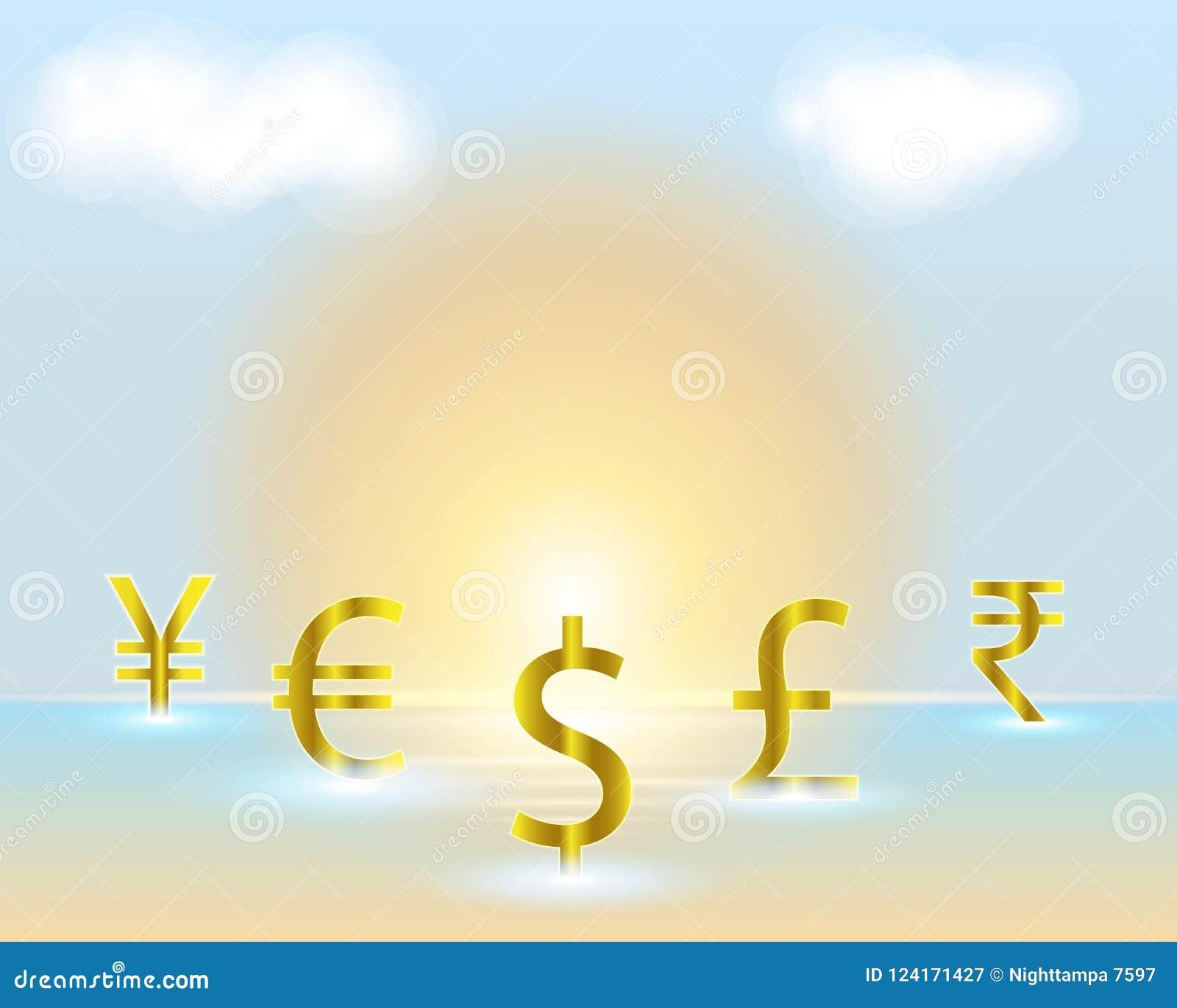 Currency Symbol Dollareurorupeepoundmoney Exchange Concepts