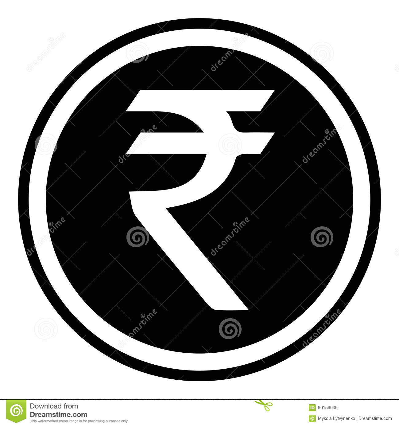 Currency Symbol India Indian Rupee Vector Rupee Sign Inr Stock