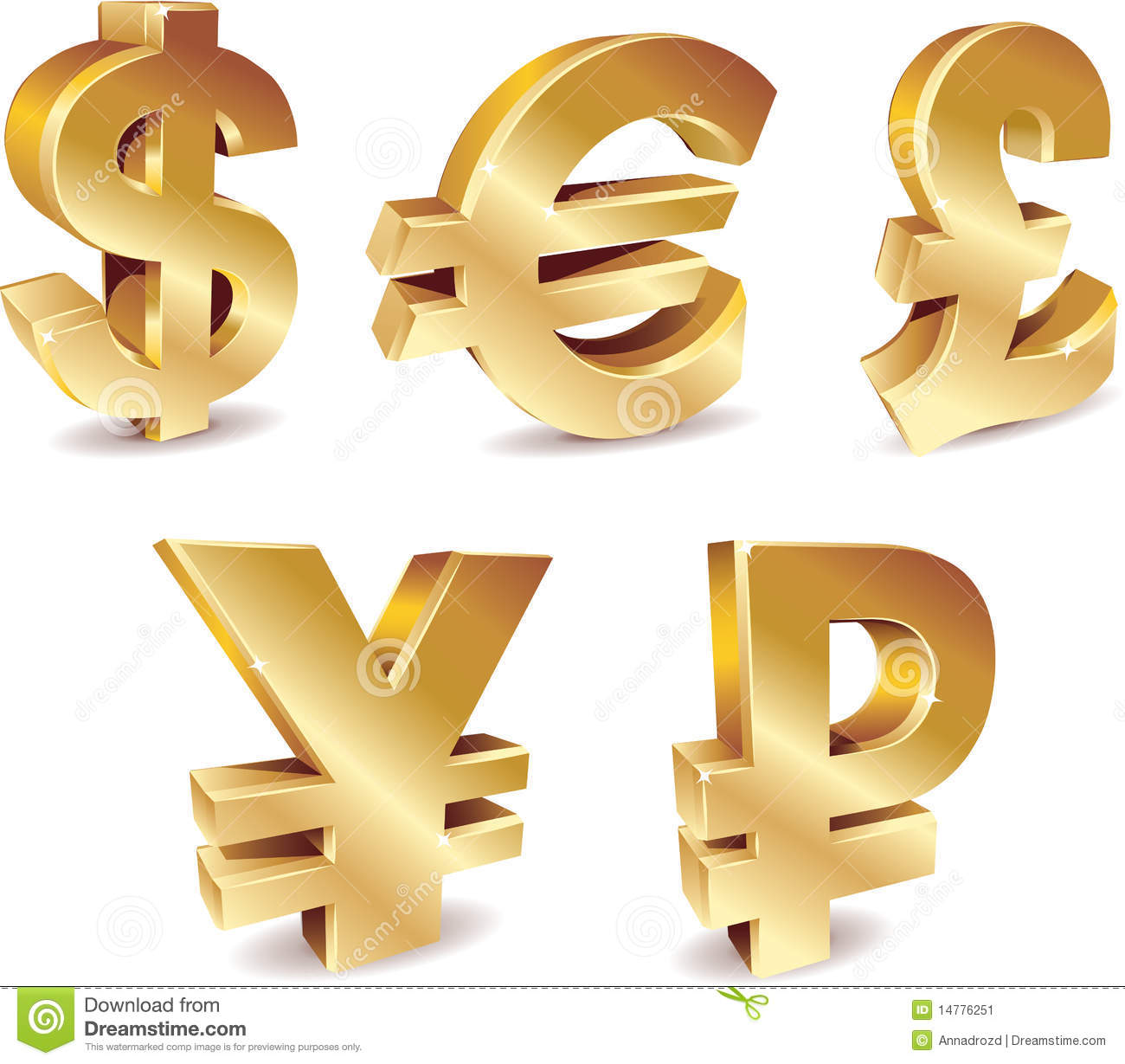 Currency Symbols Illustration 14776251 Megapixl