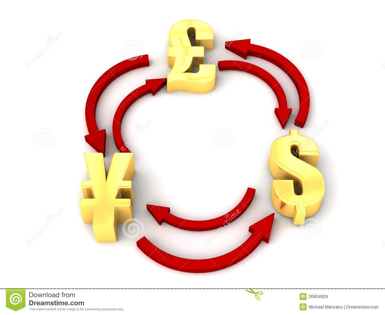Currency symbols showing foreign exchange stock illustration currency symbols showing foreign exchange biocorpaavc Images