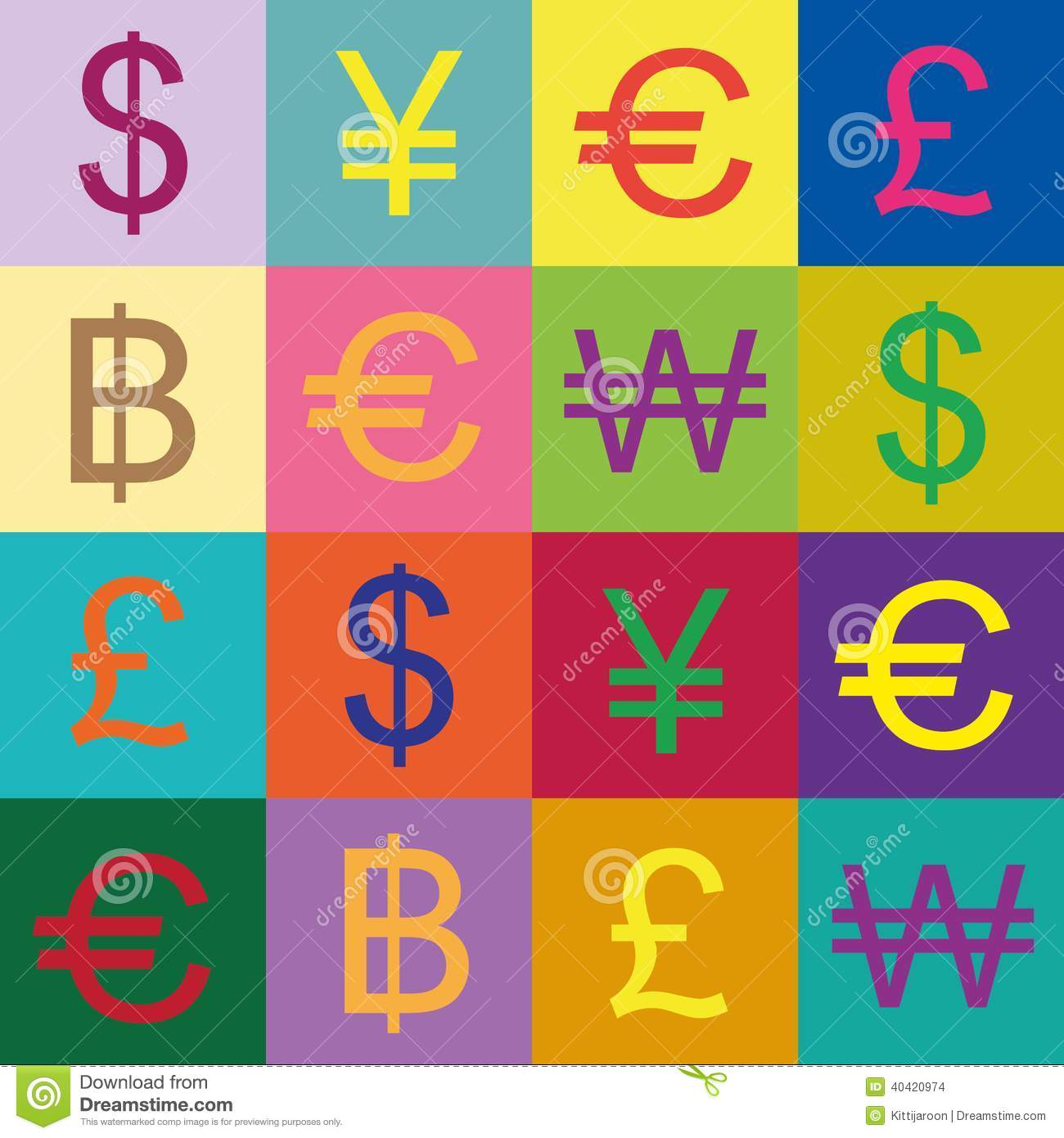 Currency symbols vector design stock vector illustration of currency symbols vector design biocorpaavc Choice Image