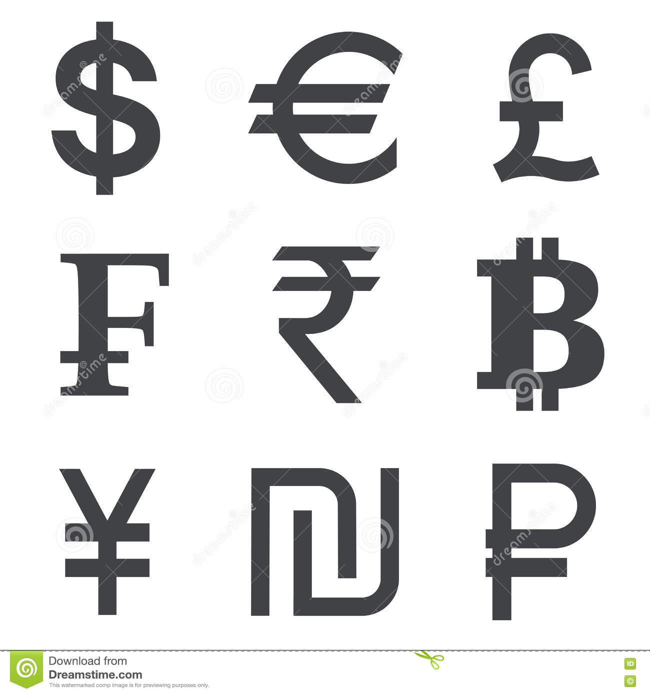 Currency vector icon set stock vector illustration of rate 75403480 currency vector icon set biocorpaavc