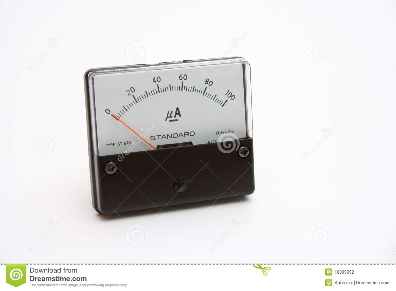 Analog Meter Background : Current meter stock photography image