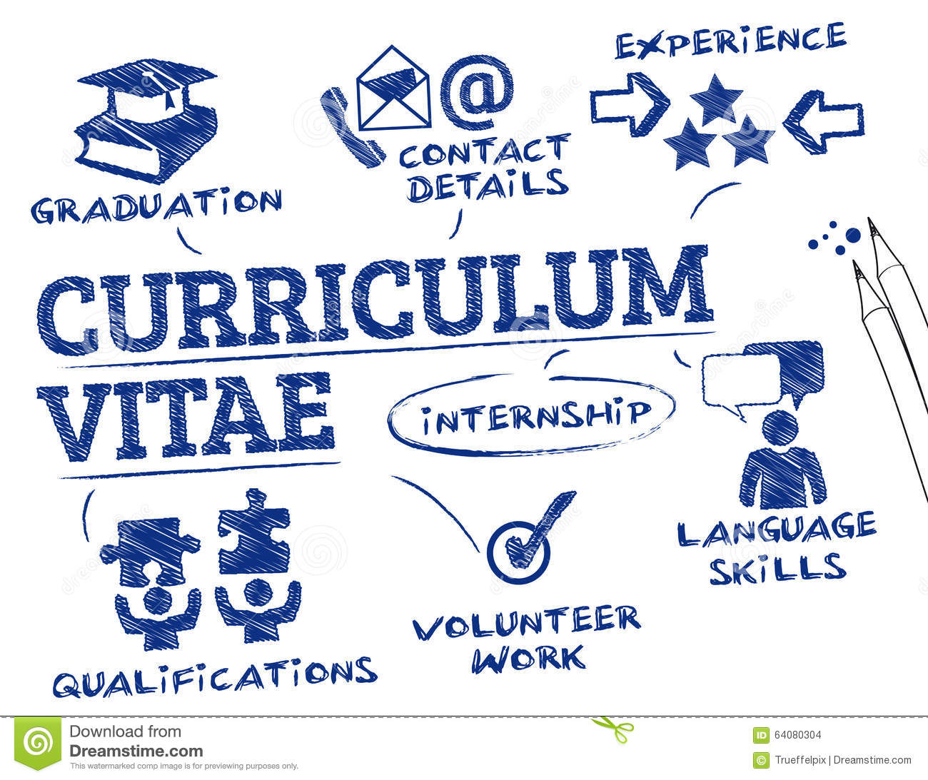 Curriculum Vitae Concept Stock Vector Illustration Of Experience