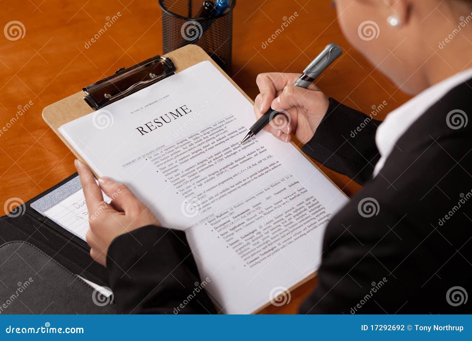 Curriculum Vitae De La Revisión Foto de archivo - Imagen de ...