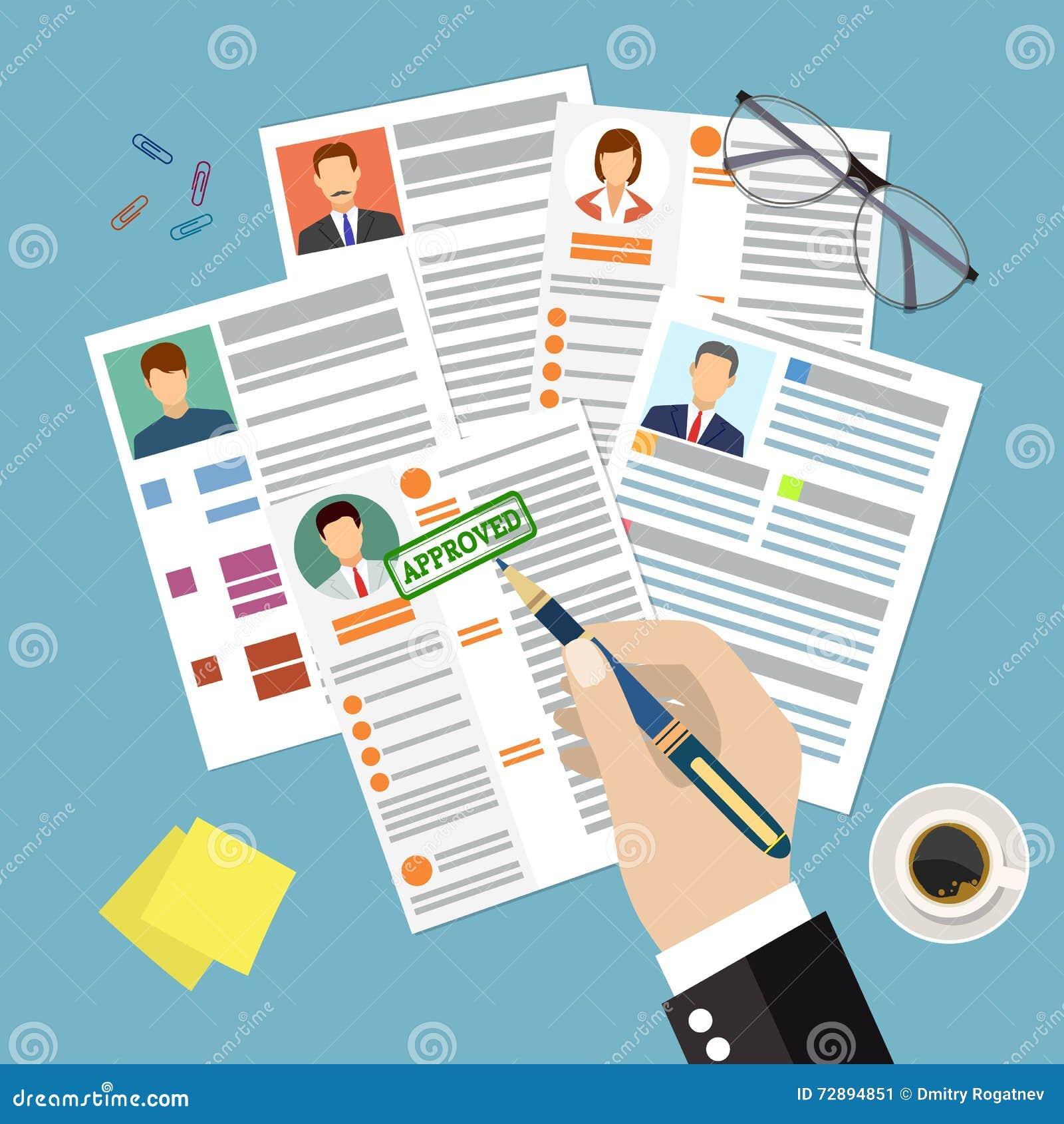 Curriculum Vitae Del Concepto Del Cv Con La Foto, Documentos ...