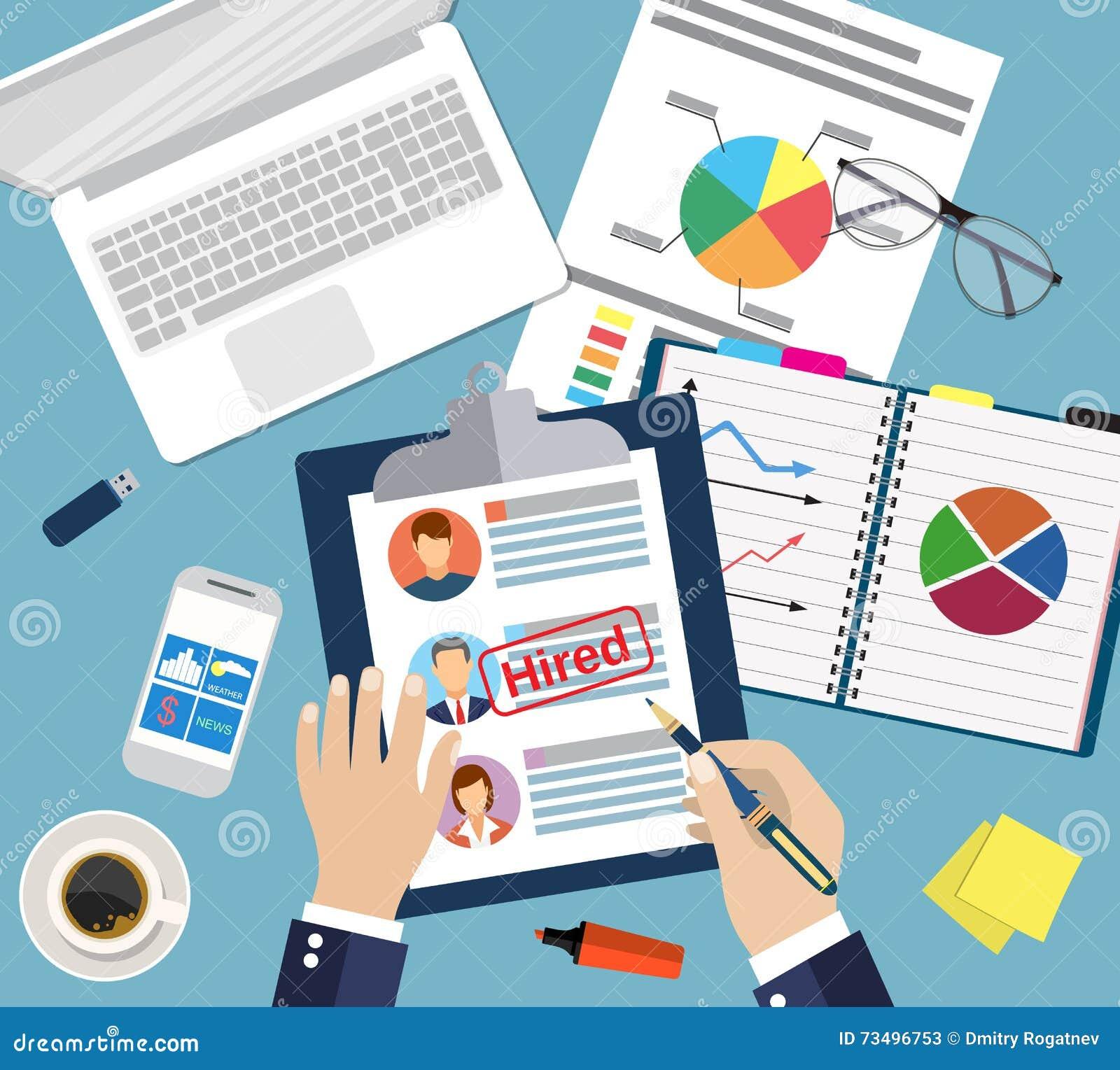 Curriculum Vitae Del Concepto Del Cv Con La Foto, Documentos Imagen ...