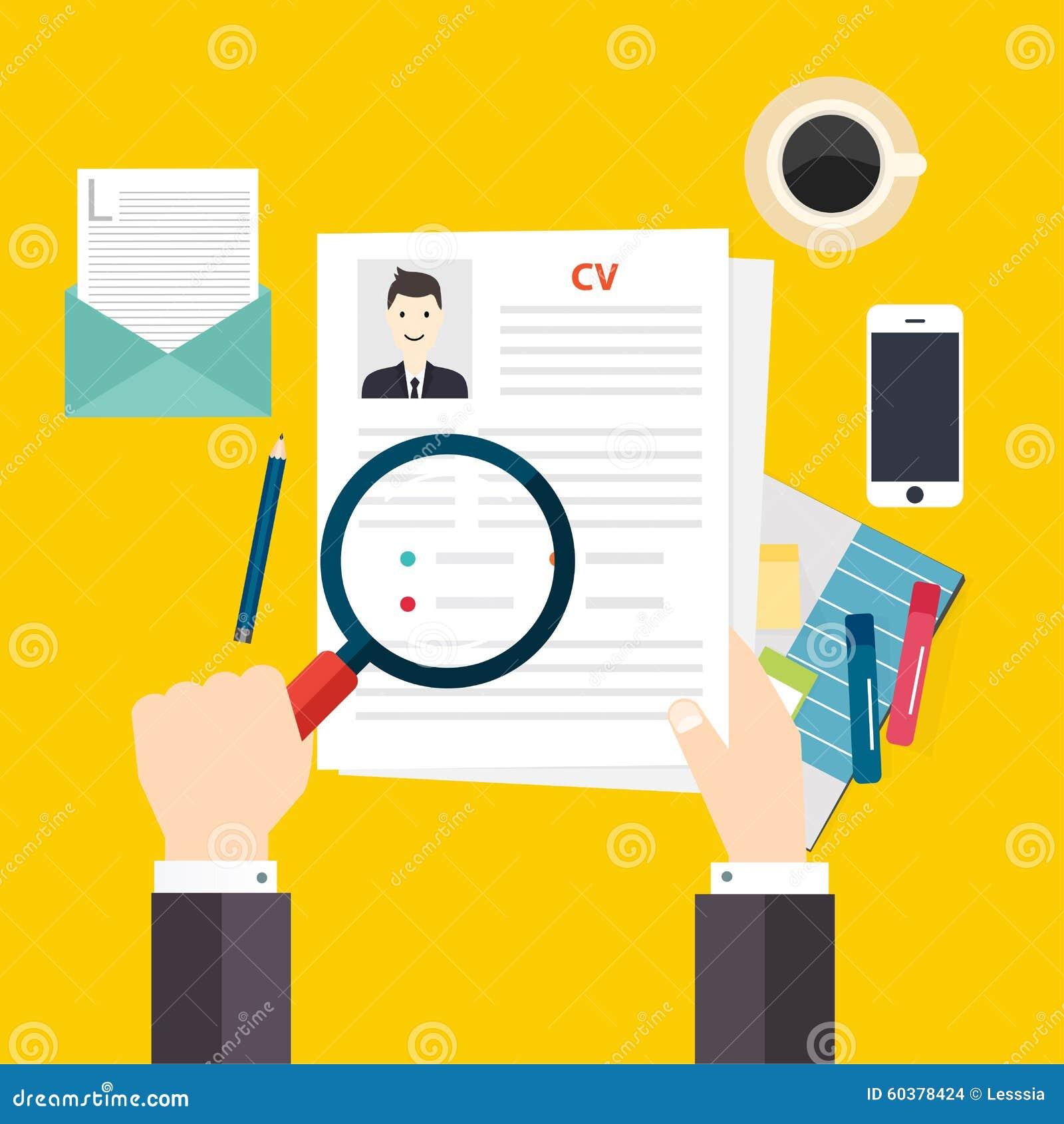 Curriculum Vitae Del CV Concepto De La Entrevista De Trabajo ...