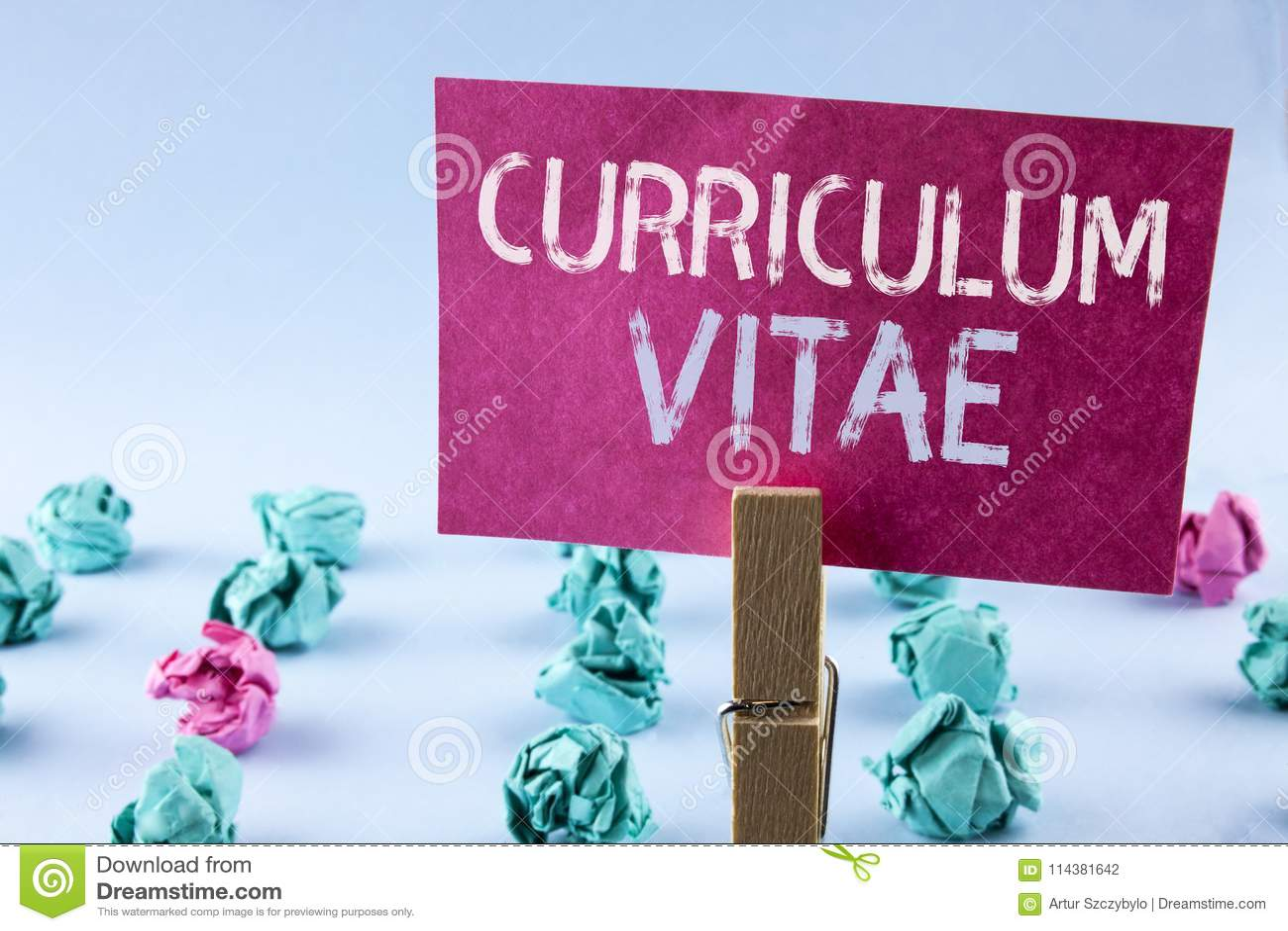 Curriculum Vitae Del Texto De La Escritura De La Palabra Concepto ...