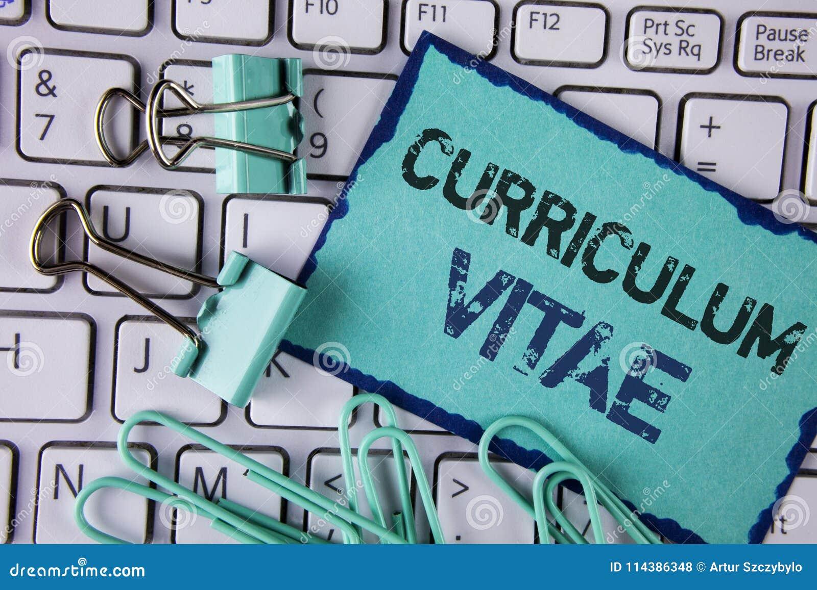 Curriculum Vitae Del Texto De La Escritura Reclutamiento De La ...