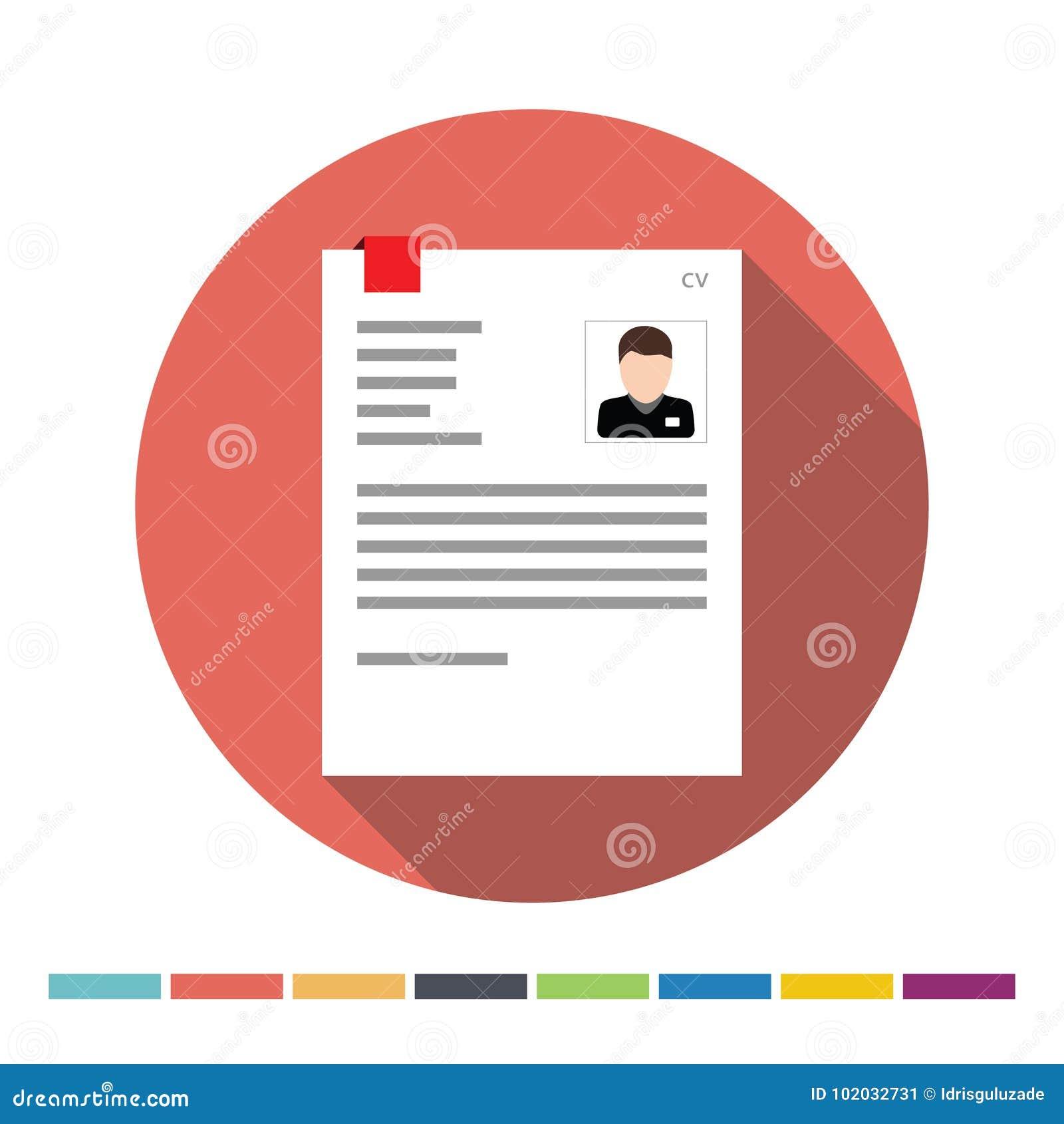 Cv Icon Stock Vector Illustration Of Employee Company 102032731