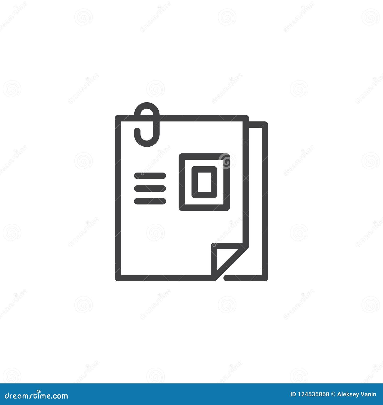 curriculum vitae outline icon