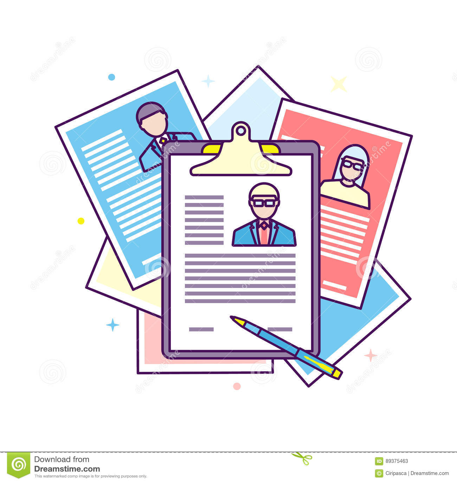 Curriculum Vitae Recruitment Candidate Job Position Stock