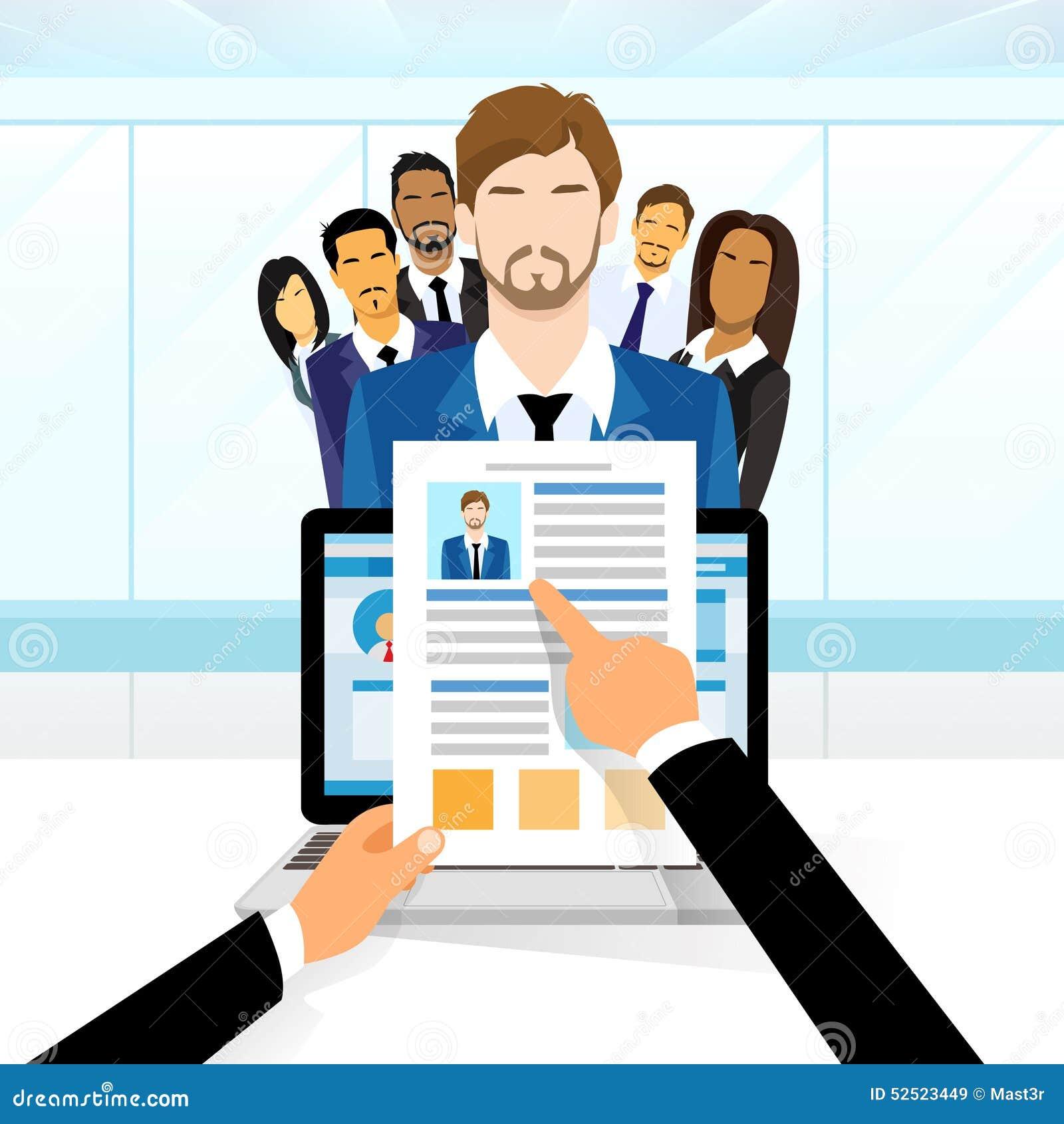 Curriculum Vitae Recruitment Candidate Job Stock Vector