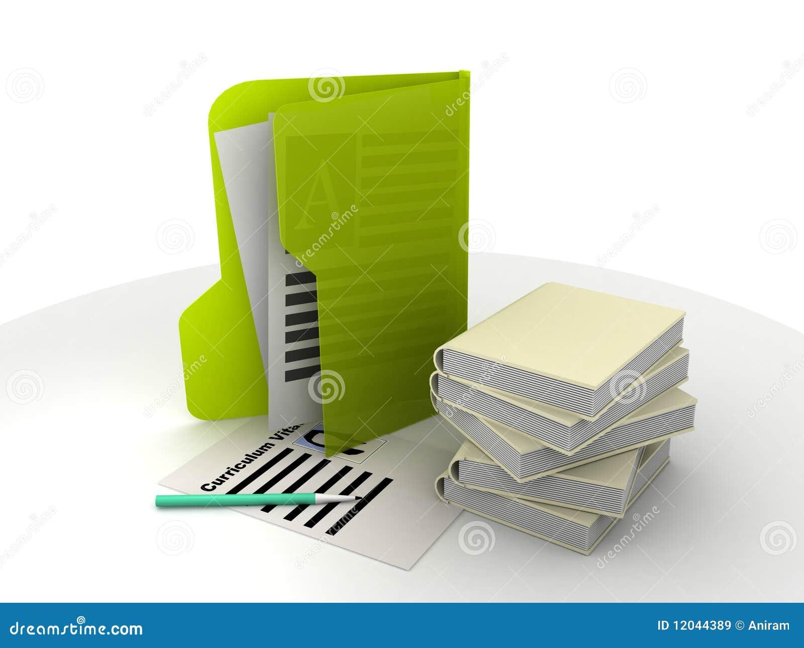 Curriculum vitae y libros stock de ilustración. Ilustración de vitae ...
