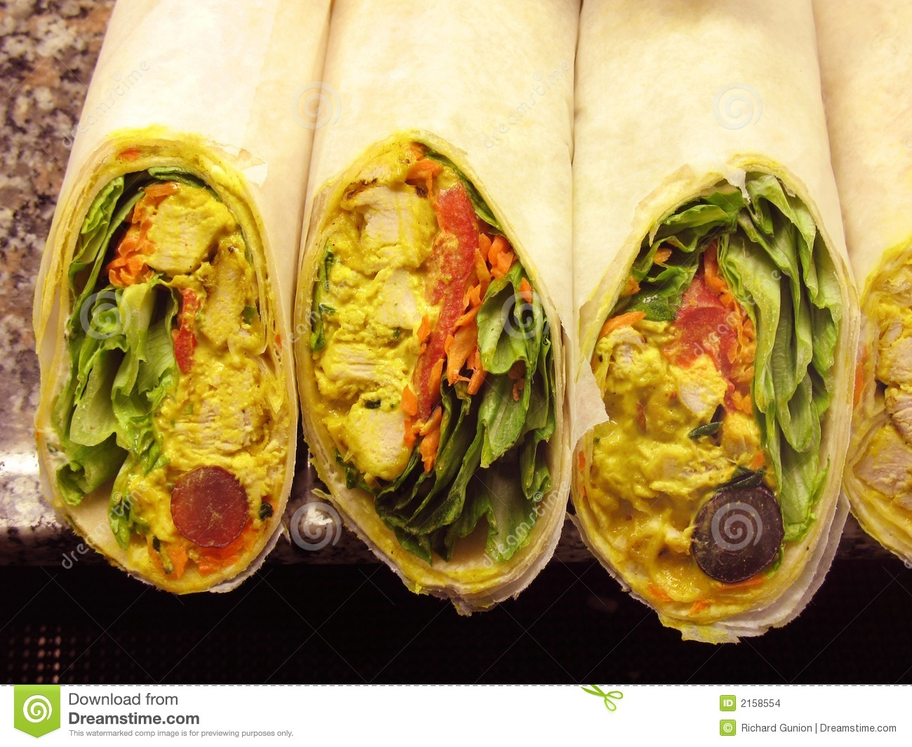 Curry Chicken Wraps Stock Images Image 2158554